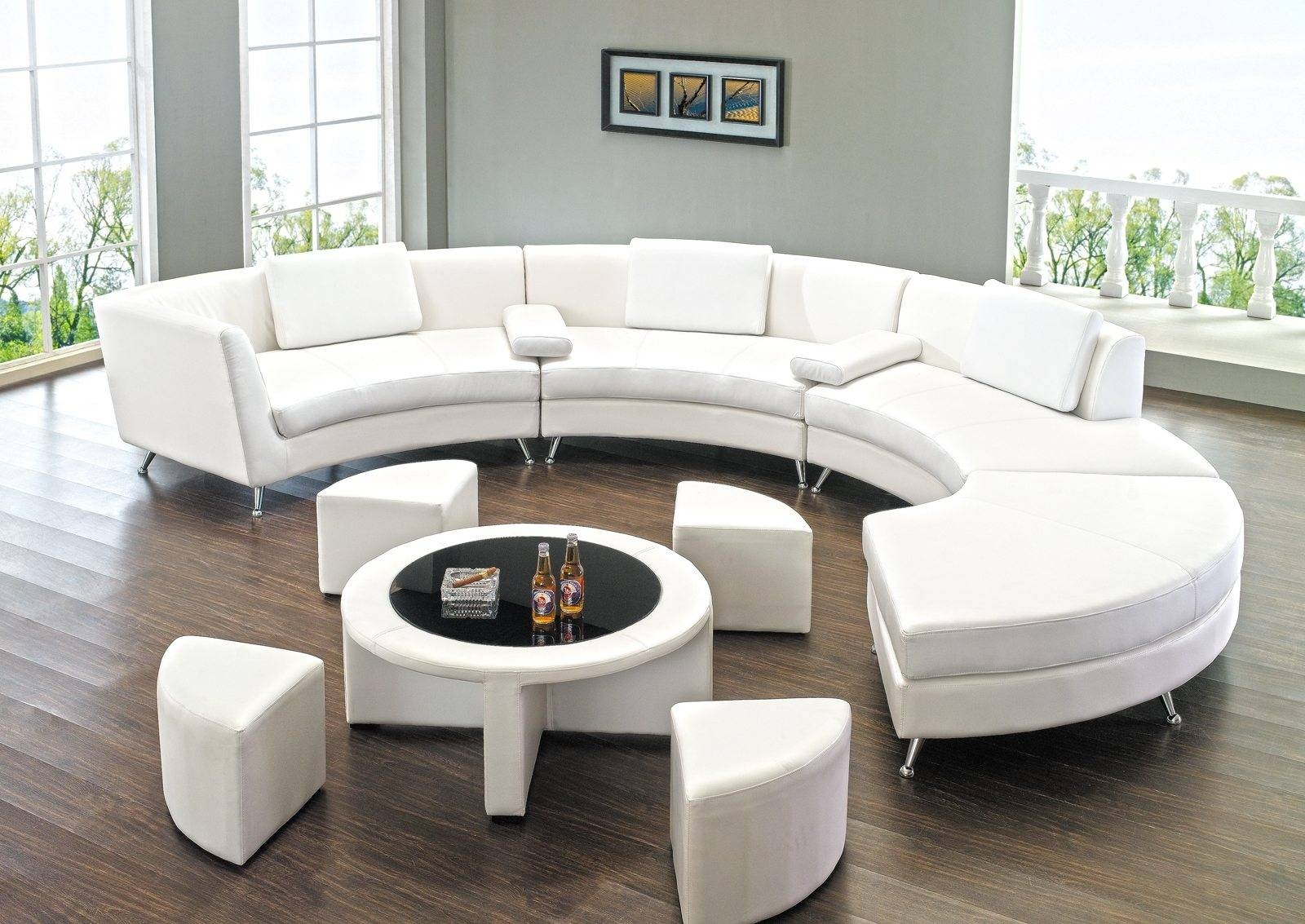 Remarkable Round Sofa With Living Room Curved Couches Round Sofa pertaining to Round Sofas (Image 13 of 30)