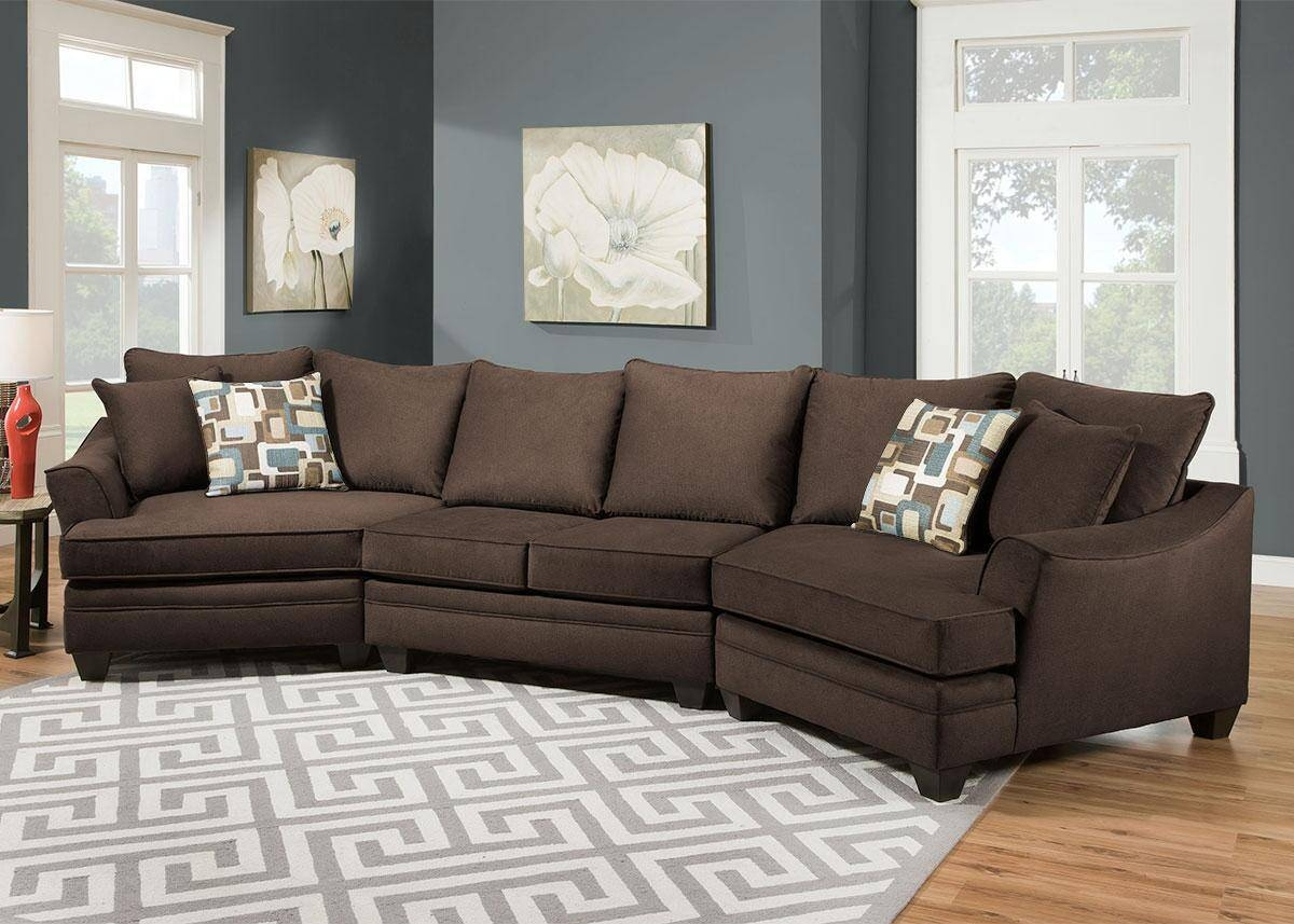 Remarkable Sectional Sofa With Cuddler Chaise 72 For Your Chenille intended for Chenille Sectional Sofas (Image 20 of 30)