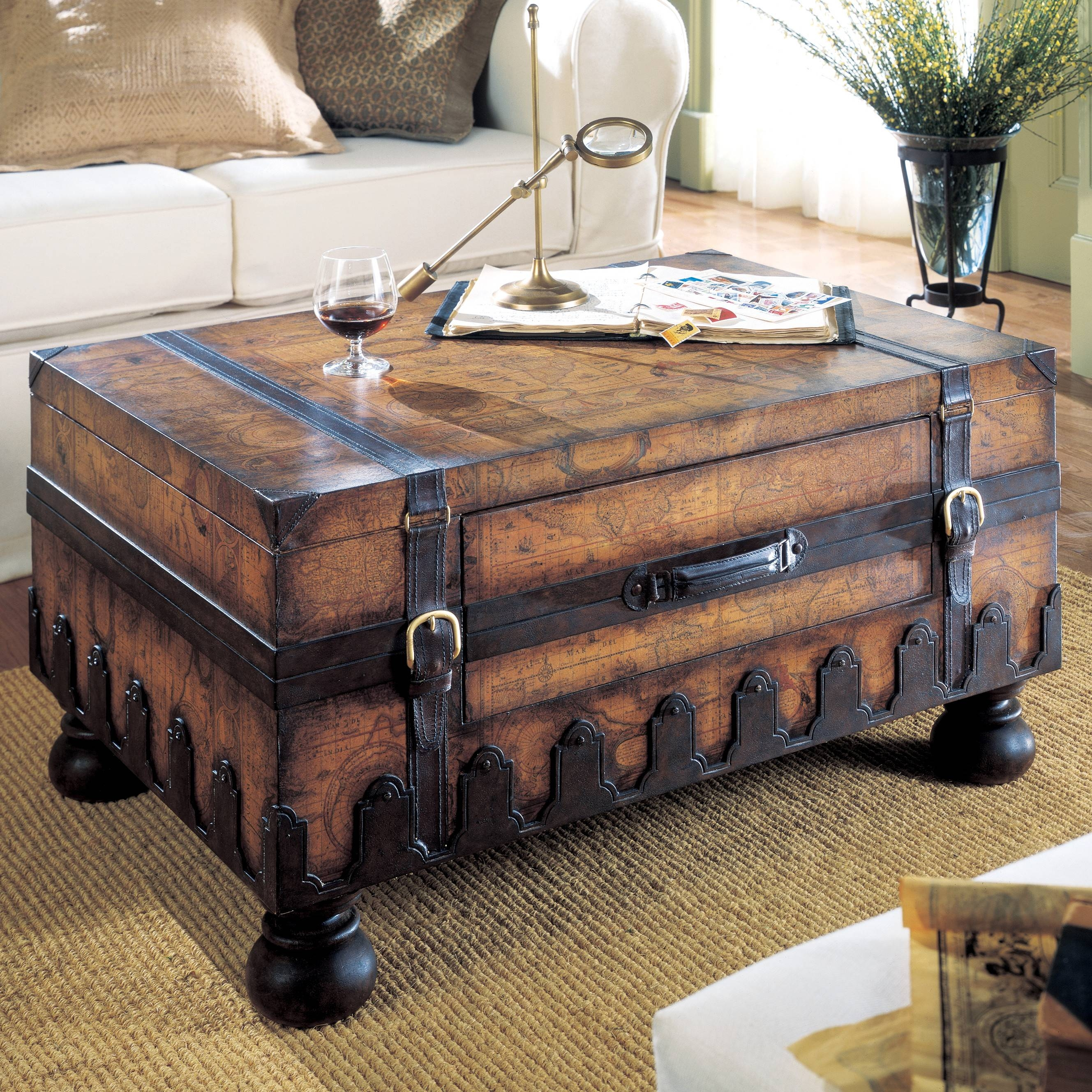 Remarkable Trunk Coffee Table – End Tables, Trunk Coffee Table throughout Heritage Coffee Tables (Image 26 of 30)