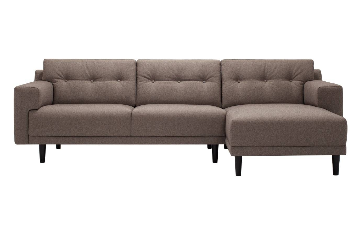Remi Fabric 2 Piece Sectional Sofa With Chaise | Viesso Regarding Sectional Sofa With 2 Chaises (View 27 of 30)