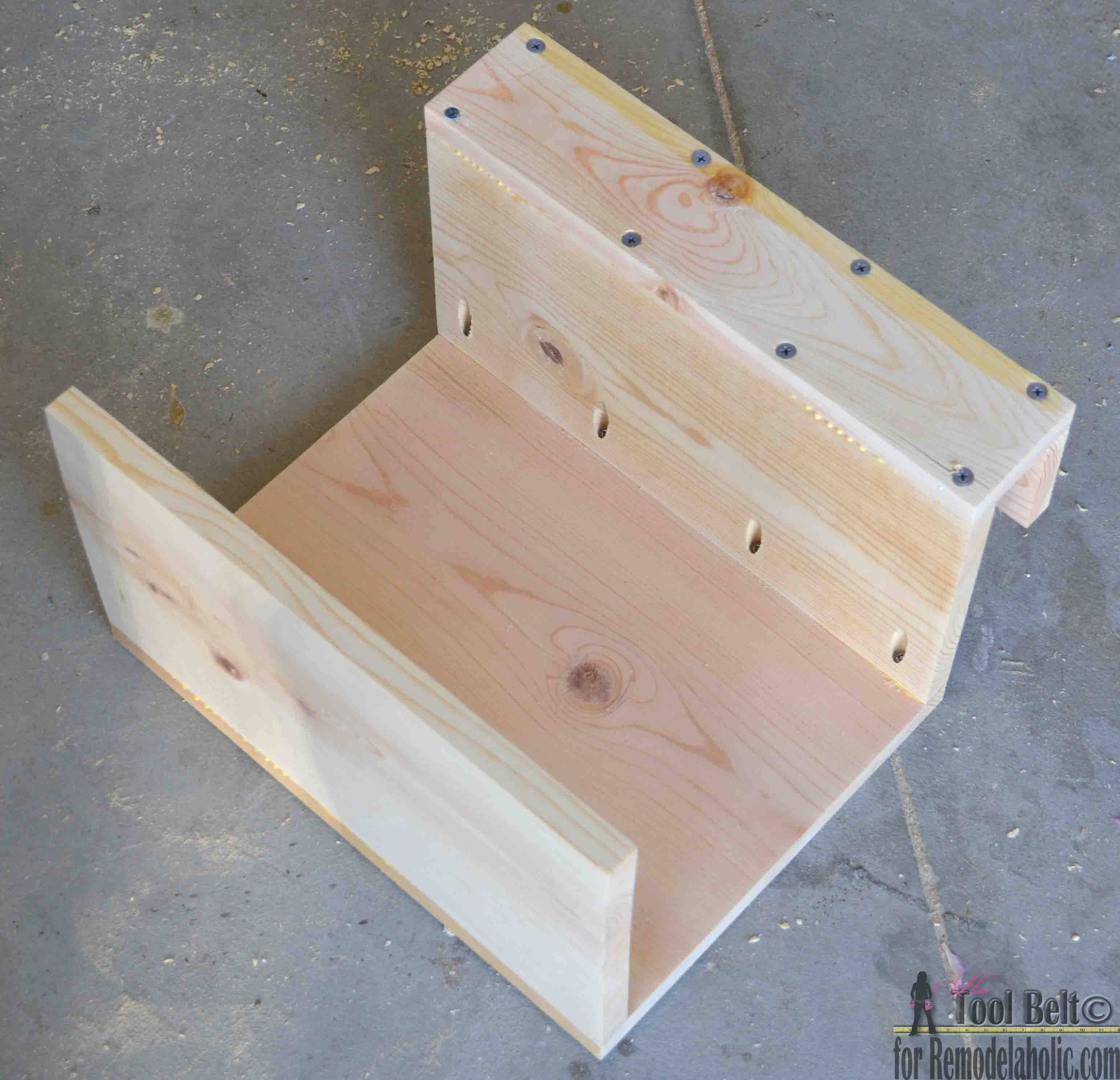 Remodelaholic | Diy Sofa Arm Table intended for Sofa Drink Tables (Image 20 of 30)