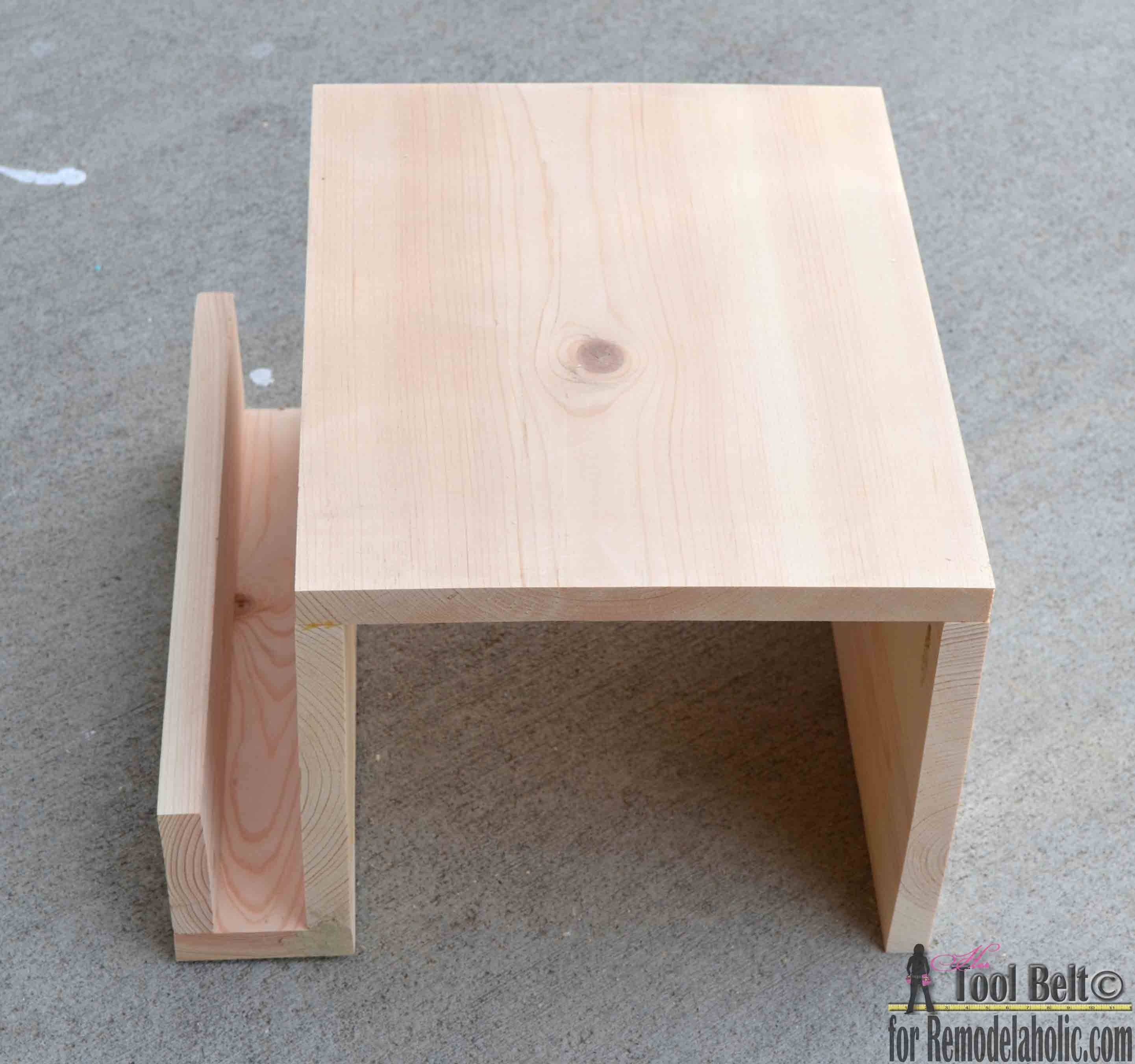 Remodelaholic | Diy Sofa Arm Table throughout Sofa Drink Tables (Image 21 of 30)