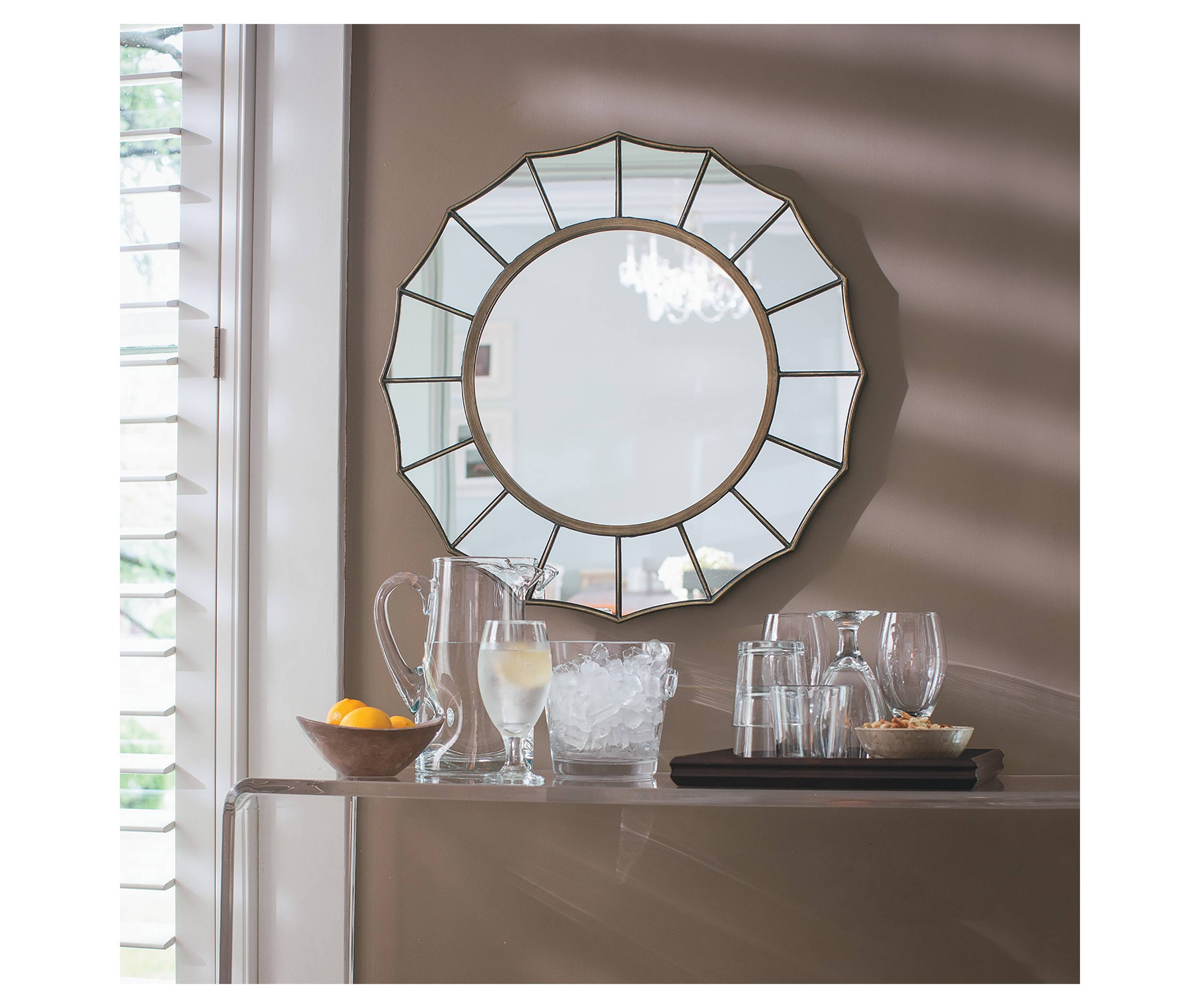Remodelaholic | Large Round Mirrors Under $75 with regard to Large Round Mirrors (Image 21 of 25)