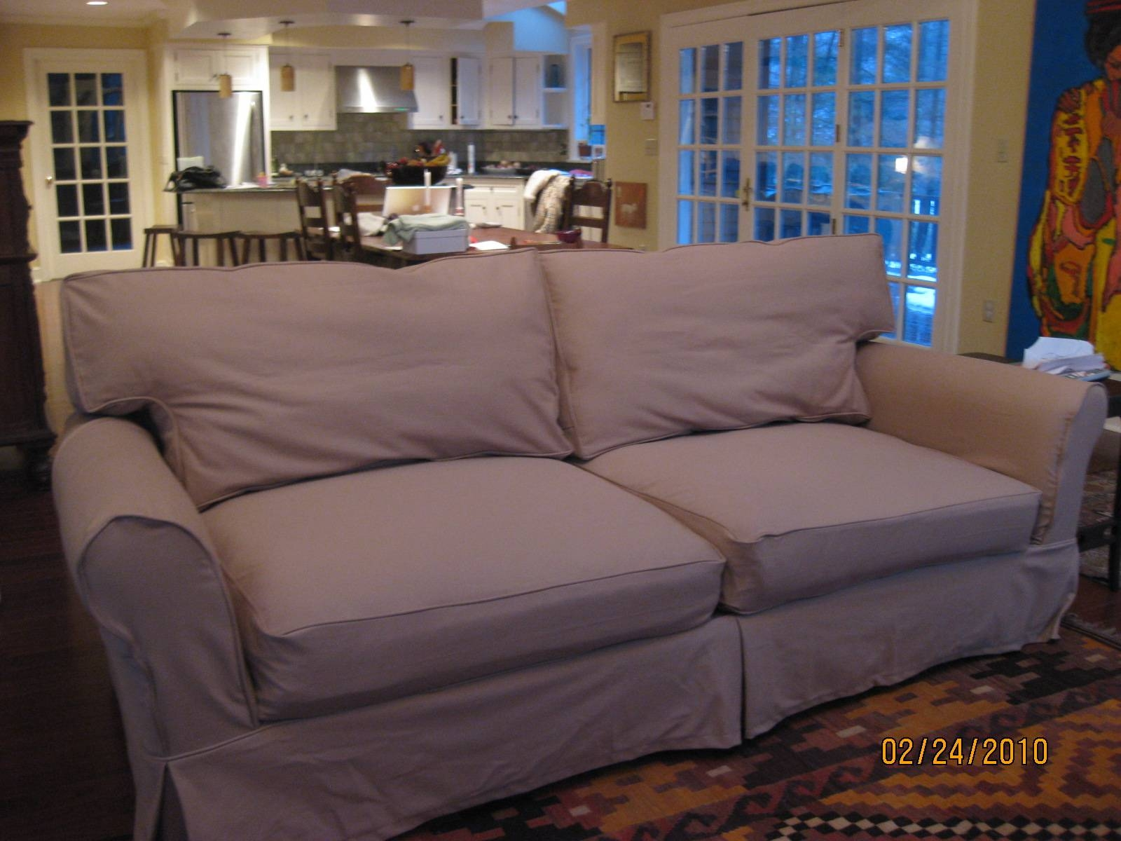 Replacement Slipcover Outlet  Replacement Slipcovers For Famous Intended  For Mitchell Gold Sofa Slipcovers (Image