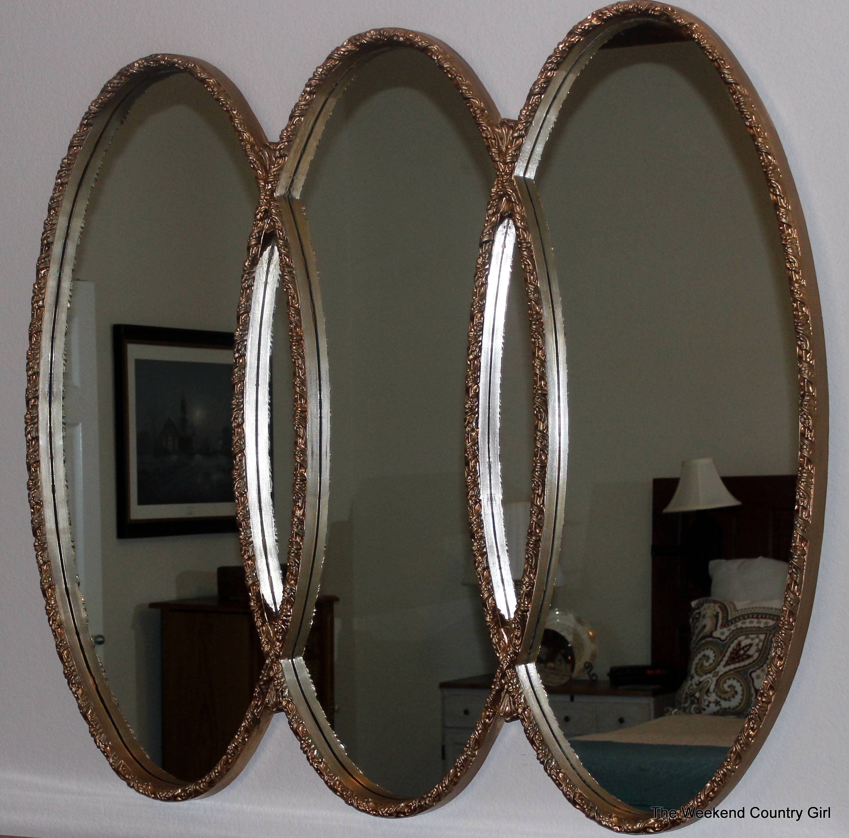 Repurposing A Mirror | The Weekend Country Girl within Triple Oval Wall Mirrors (Image 18 of 25)