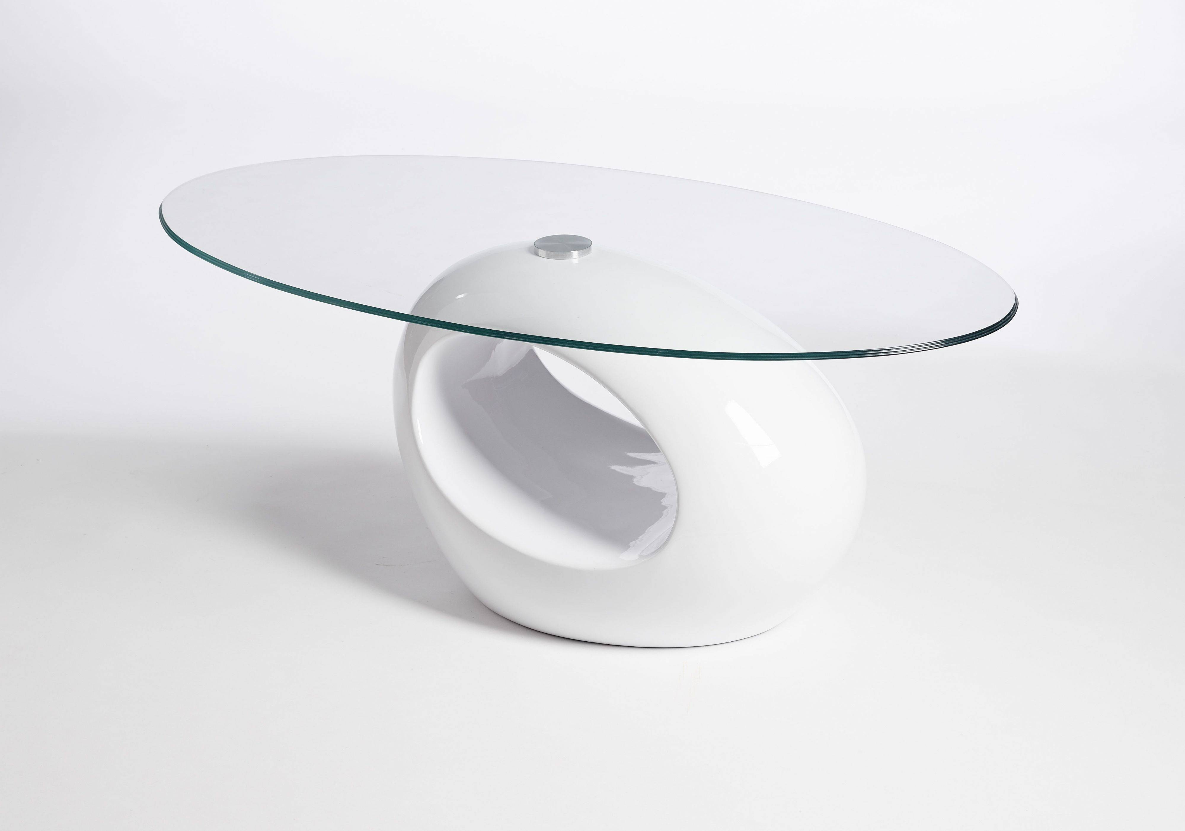 Retro Designed Oval Coffee Table (Black Clear) | Ukcoffeetables inside White Retro Coffee Tables (Image 20 of 30)