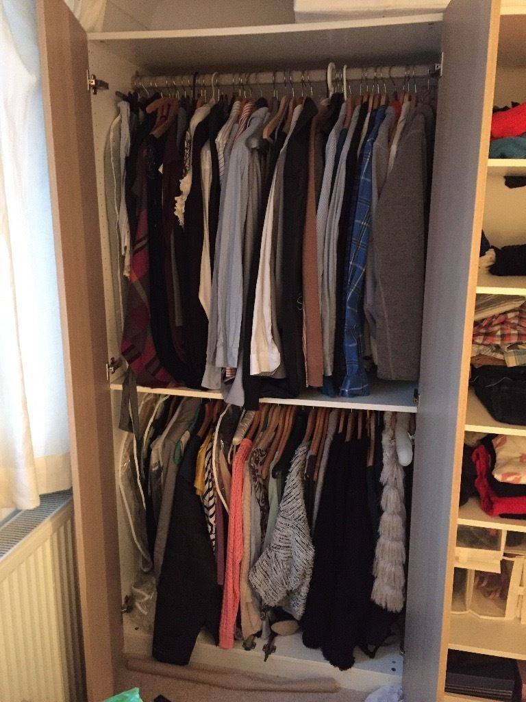 Retro Ikea Pax Wardrobe Rail | Roselawnlutheran Intended For Double Rail Wardrobes (View 9 of 30)