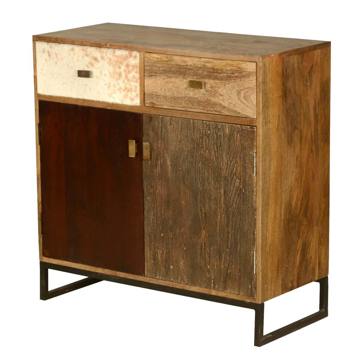 Retro Mango Wood Free Standing Kitchen Cabinet Mini Buffet inside Free Standing Kitchen Sideboards (Image 25 of 30)