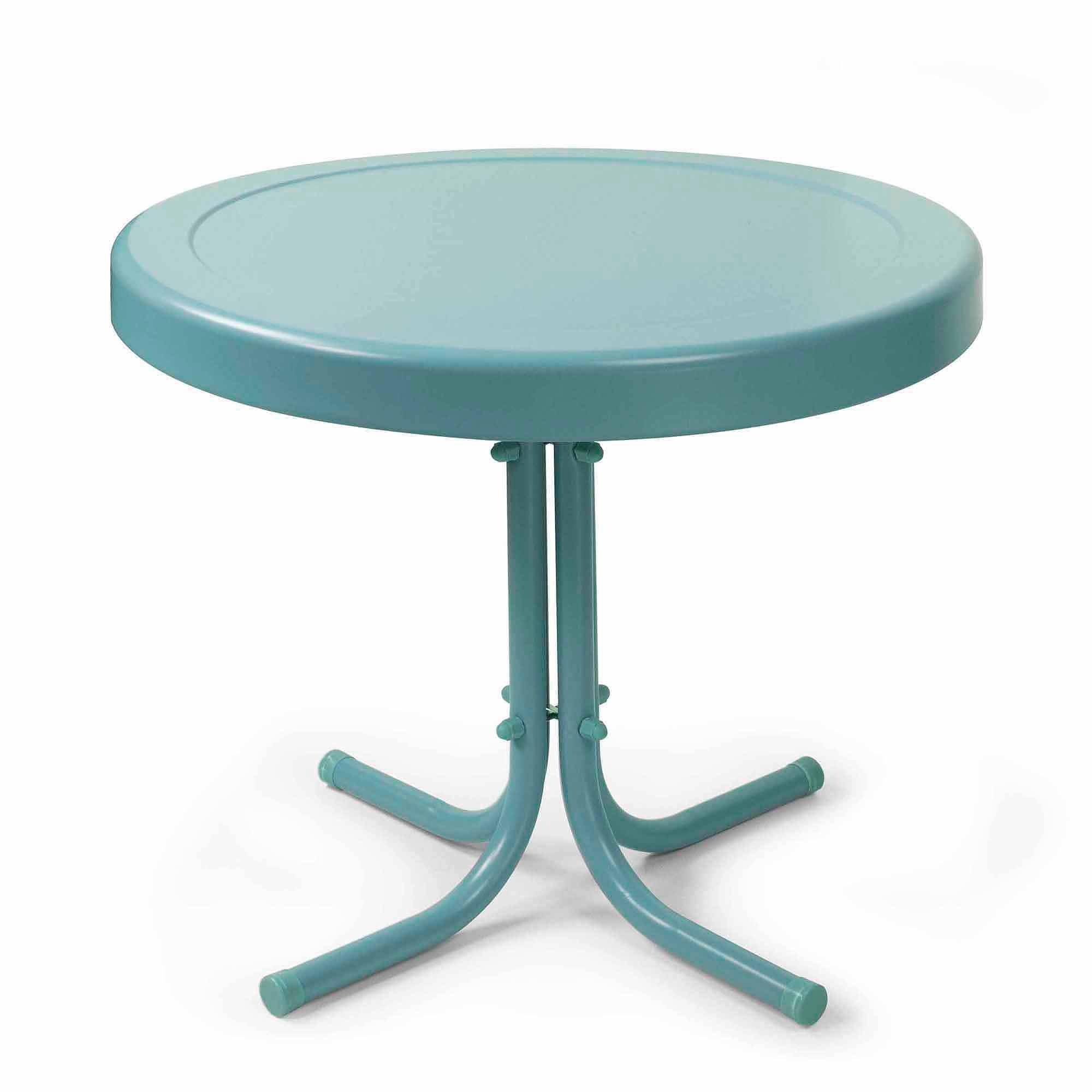 Retro Outdoor Bistro Table, Multiple Colors - Walmart pertaining to White Retro Coffee Tables (Image 21 of 30)