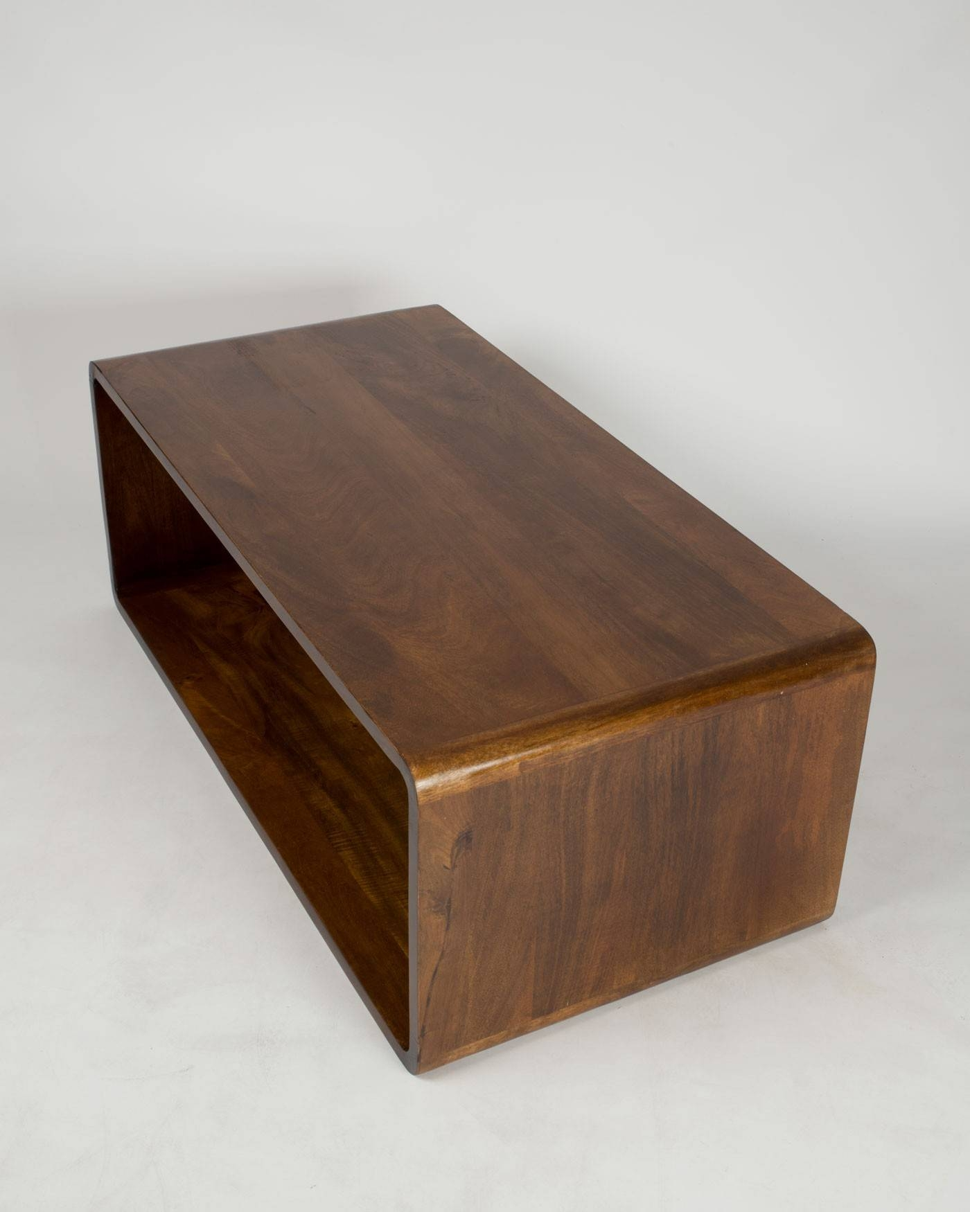 Retro Style Rectangle Cube Coffee Table Solid Wood Dark Shade with Coffee Tables Solid Wood (Image 20 of 30)