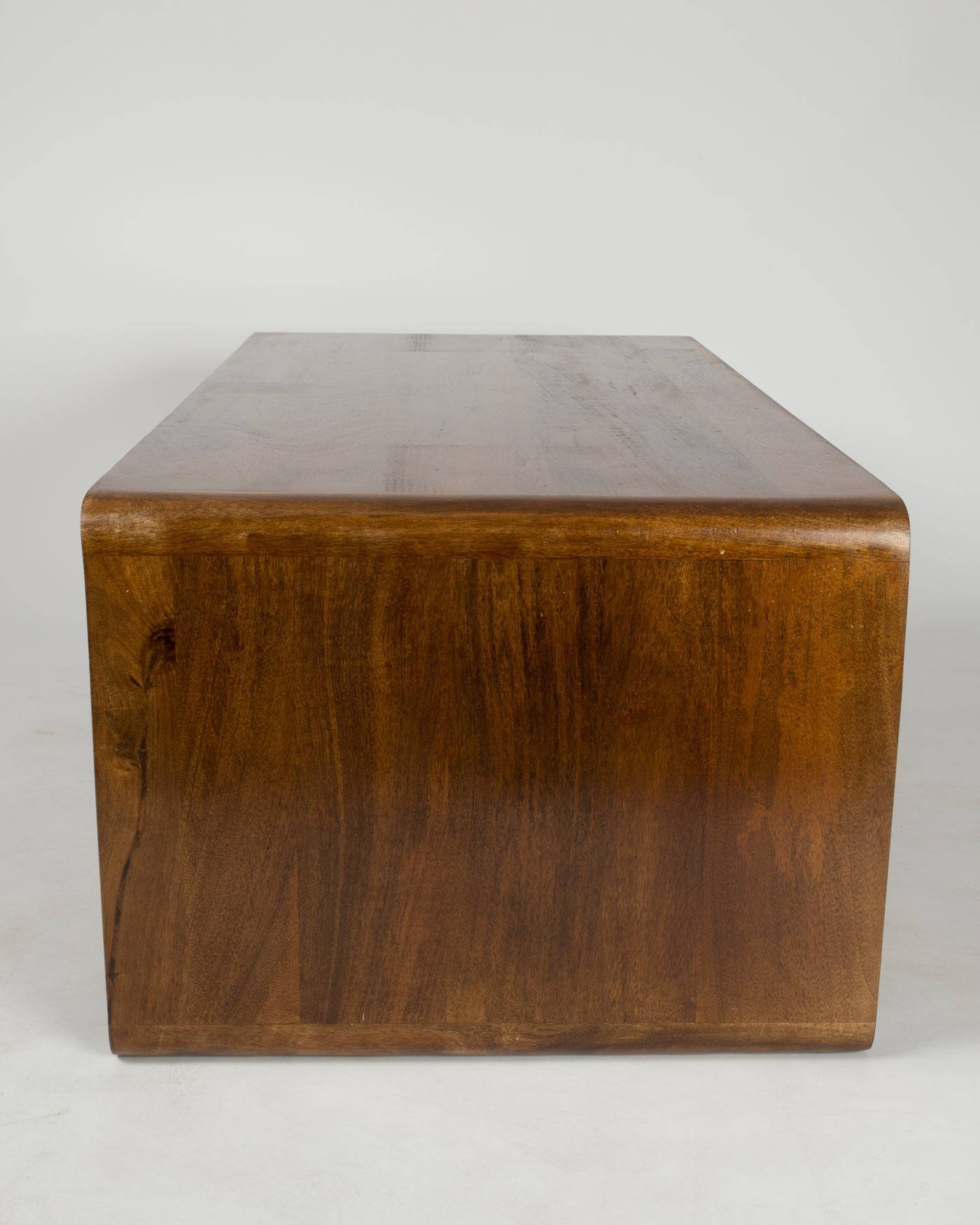 Retro Style Rectangle Cube Coffee Table Solid Wood Dark Shade With Regard To Coffee Tables Solid Wood (View 12 of 30)