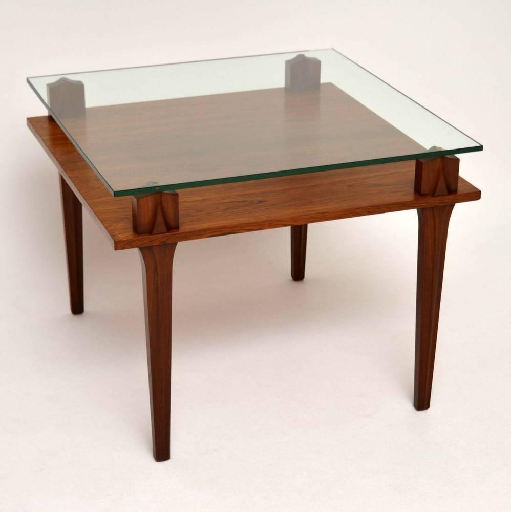 Retro Teak & Glass Coffee Table Vintage 1960's | Retrospective Pertaining To Retro Teak Glass Coffee Tables (View 24 of 30)