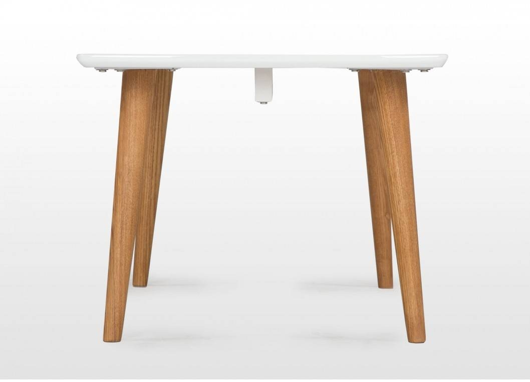 Retro Wooden Coffee Table With White Top & Natural Legs - Elise pertaining to Elise Coffee Tables (Image 25 of 30)