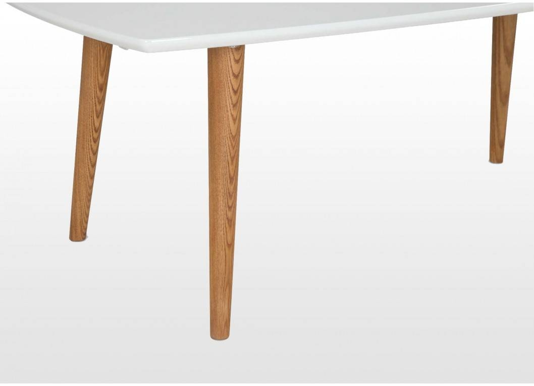 Retro Wooden Coffee Table With White Top & Natural Legs - Elise regarding Elise Coffee Tables (Image 26 of 30)