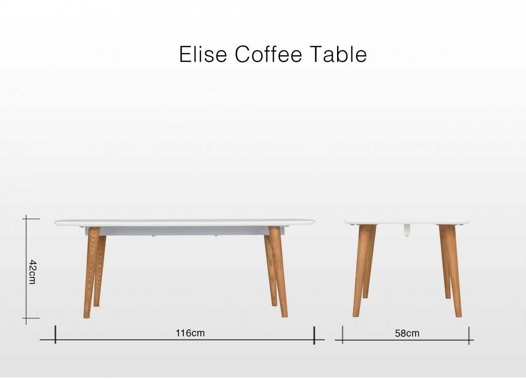 Retro Wooden Coffee Table With White Top & Natural Legs - Elise with Elise Coffee Tables (Image 27 of 30)