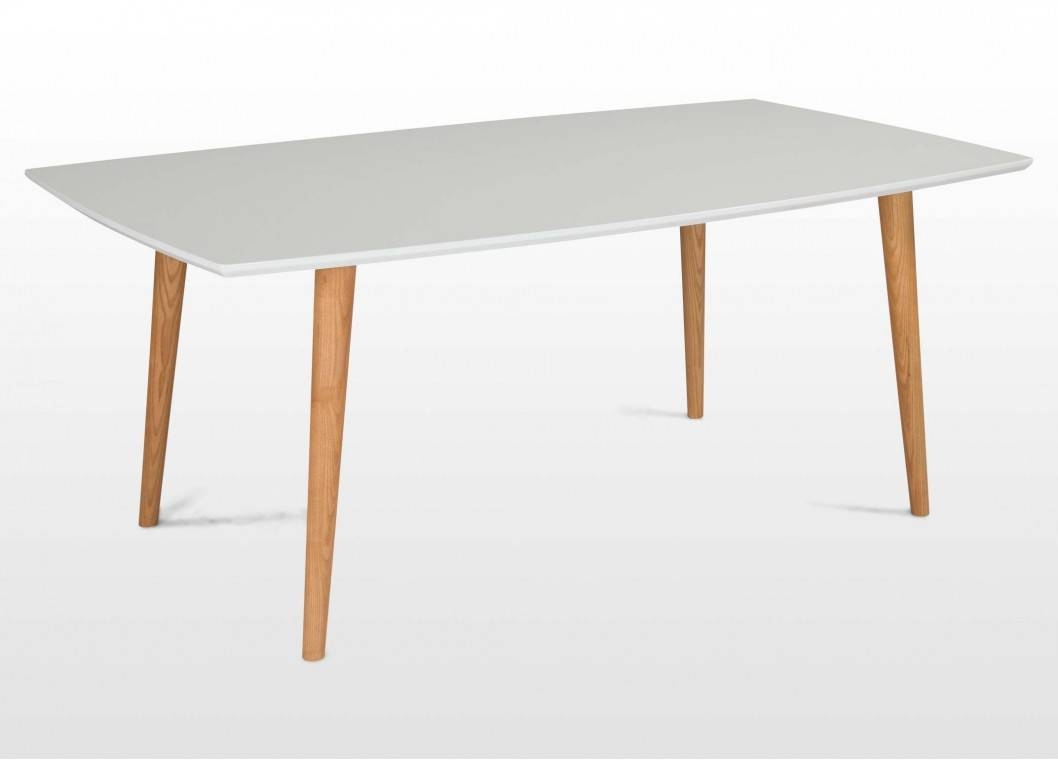 Retro Wooden Dining Table With White Tabletop - Elise in Retro White Coffee Tables (Image 25 of 30)