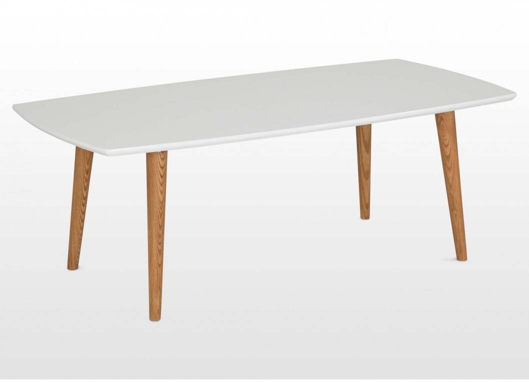 Retro Wooden Dining Table With White Tabletop - Elise throughout White Retro Coffee Tables (Image 22 of 30)
