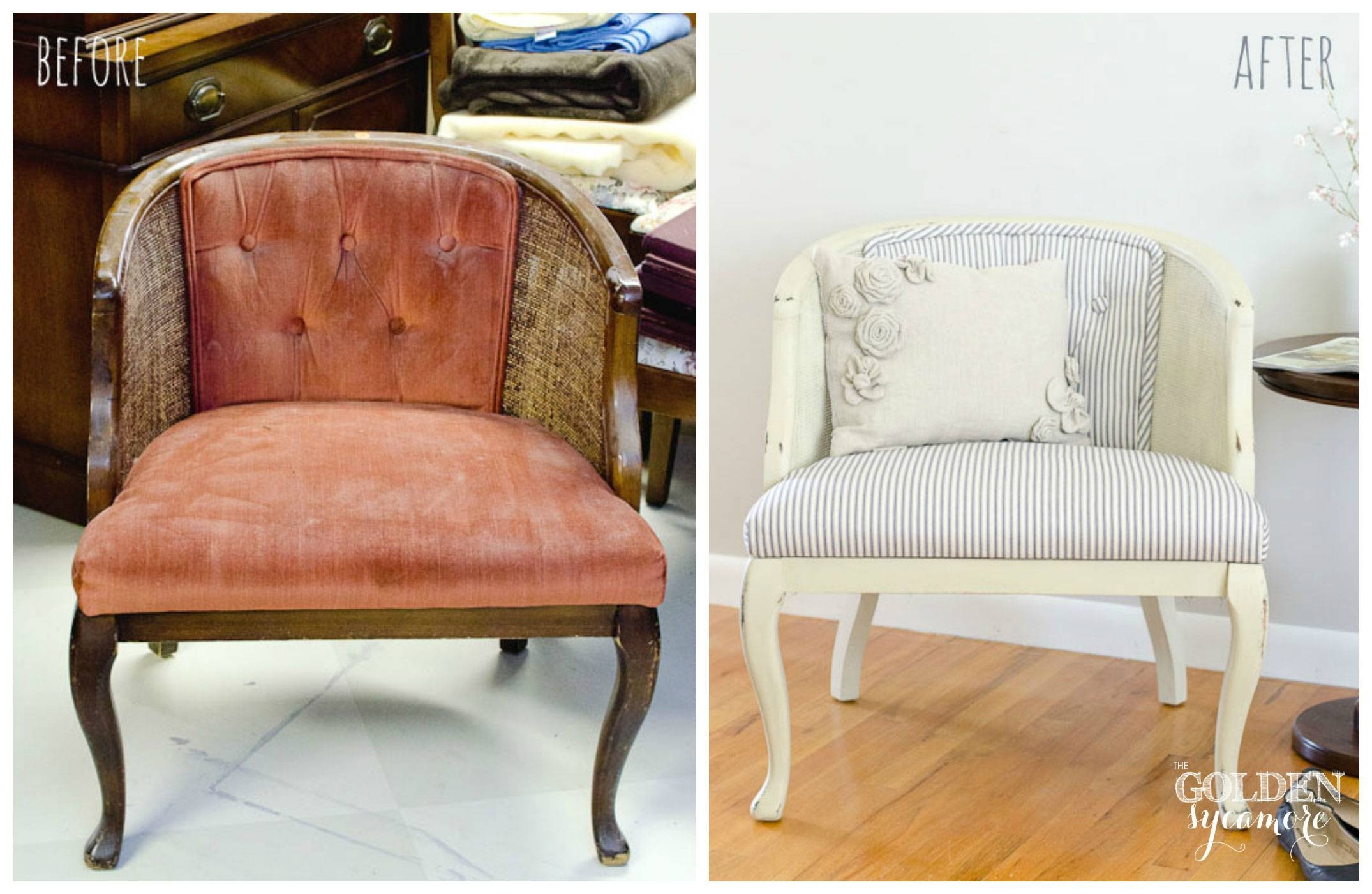 Reupholstered Tufted Cane Chair - The Golden Sycamore pertaining to White Cane Sofas (Image 25 of 30)