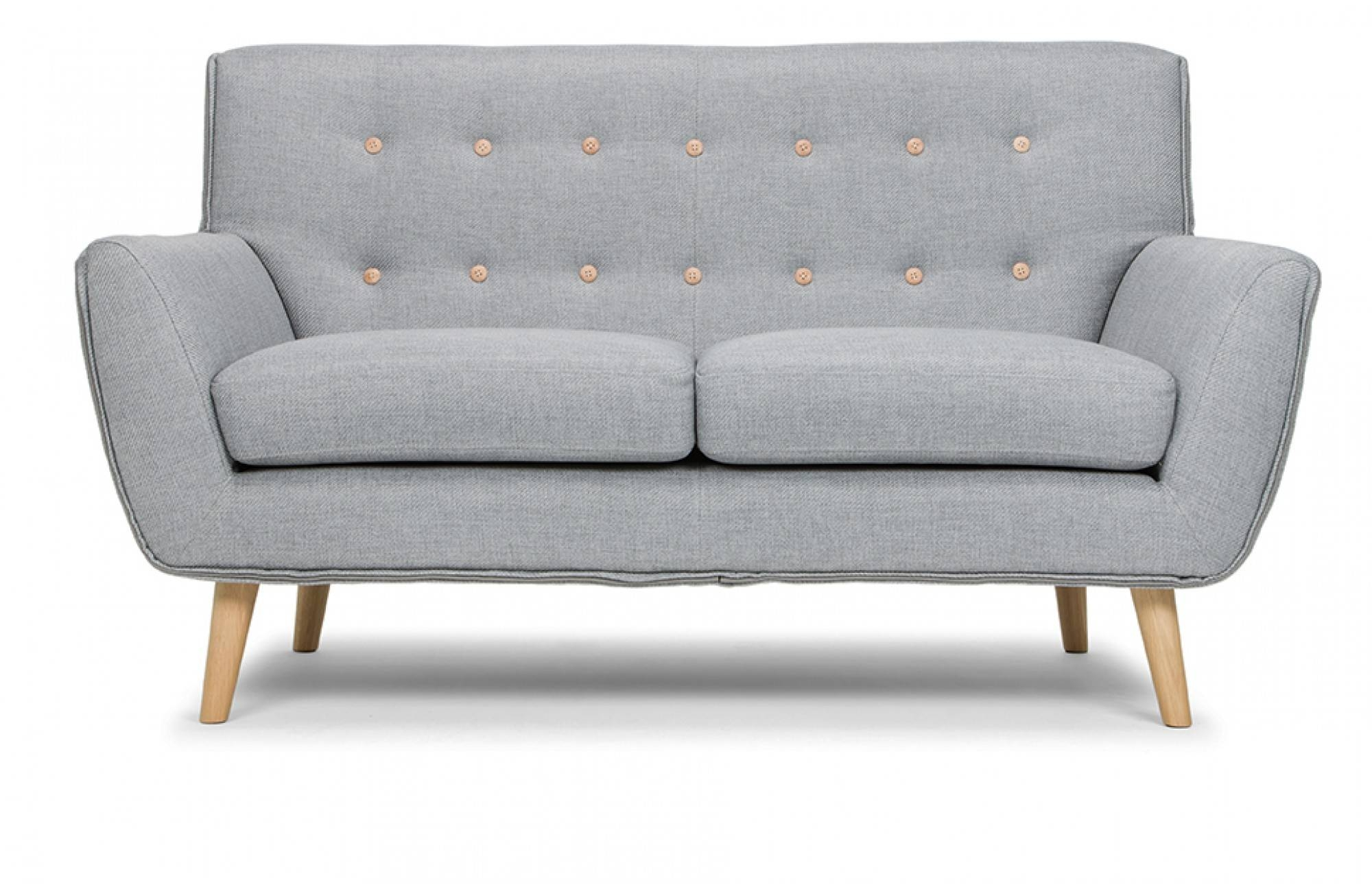 Richard 2-Seater Sofa In Stone Grey - Out And Out Original regarding Two Seater Sofas (Image 22 of 30)