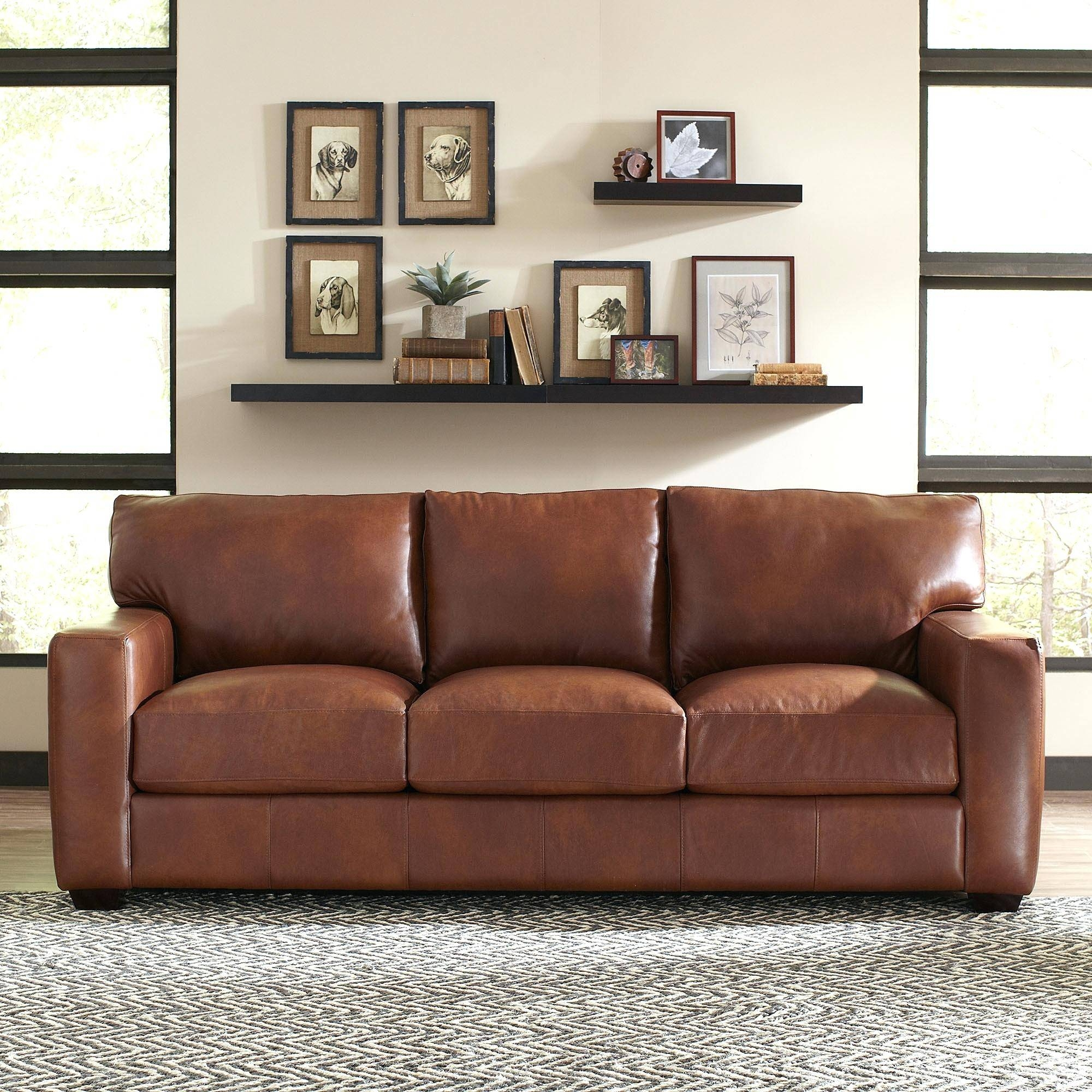 Richmond Leather Sofa Birch Lanetrade Pratt High Back Sofas regarding Richmond Sofas (Image 17 of 30)