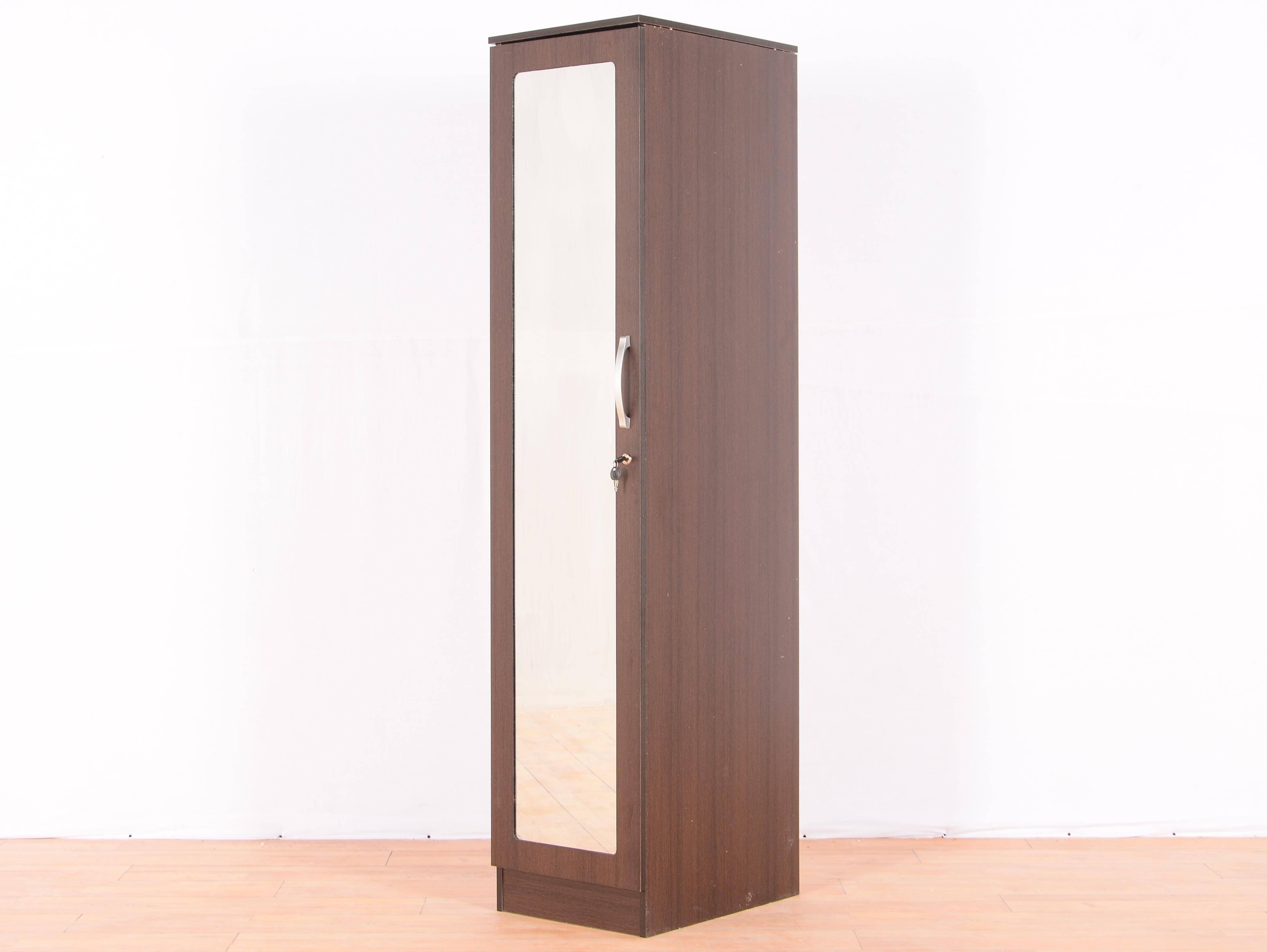 Rikotu Single Door Wardrobe With Mirrormintwud: Buy And Sell In Single Door Mirrored Wardrobes (View 6 of 15)