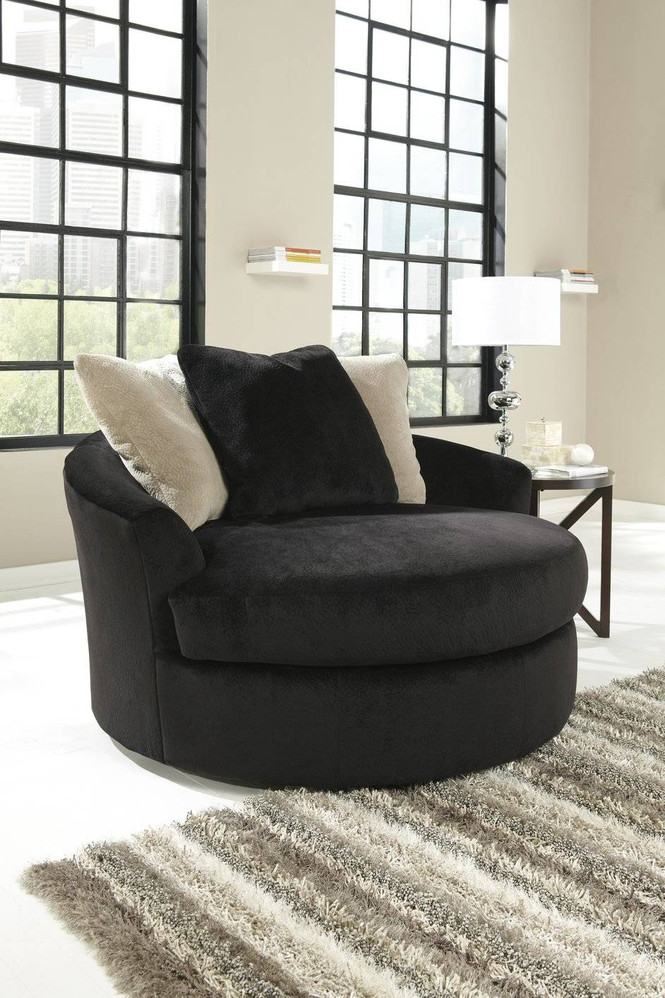 Rio Corner Sofa Groupon Goods Swivel Sofa Chair ~ Hmmi regarding Round Swivel Sofa Chairs (Image 13 of 30)