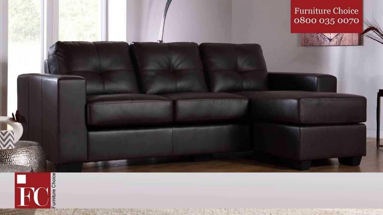 Rio Leather Corner Sofas From Furniture Choice - Youtube for Leather Corner Sofas (Image 25 of 30)