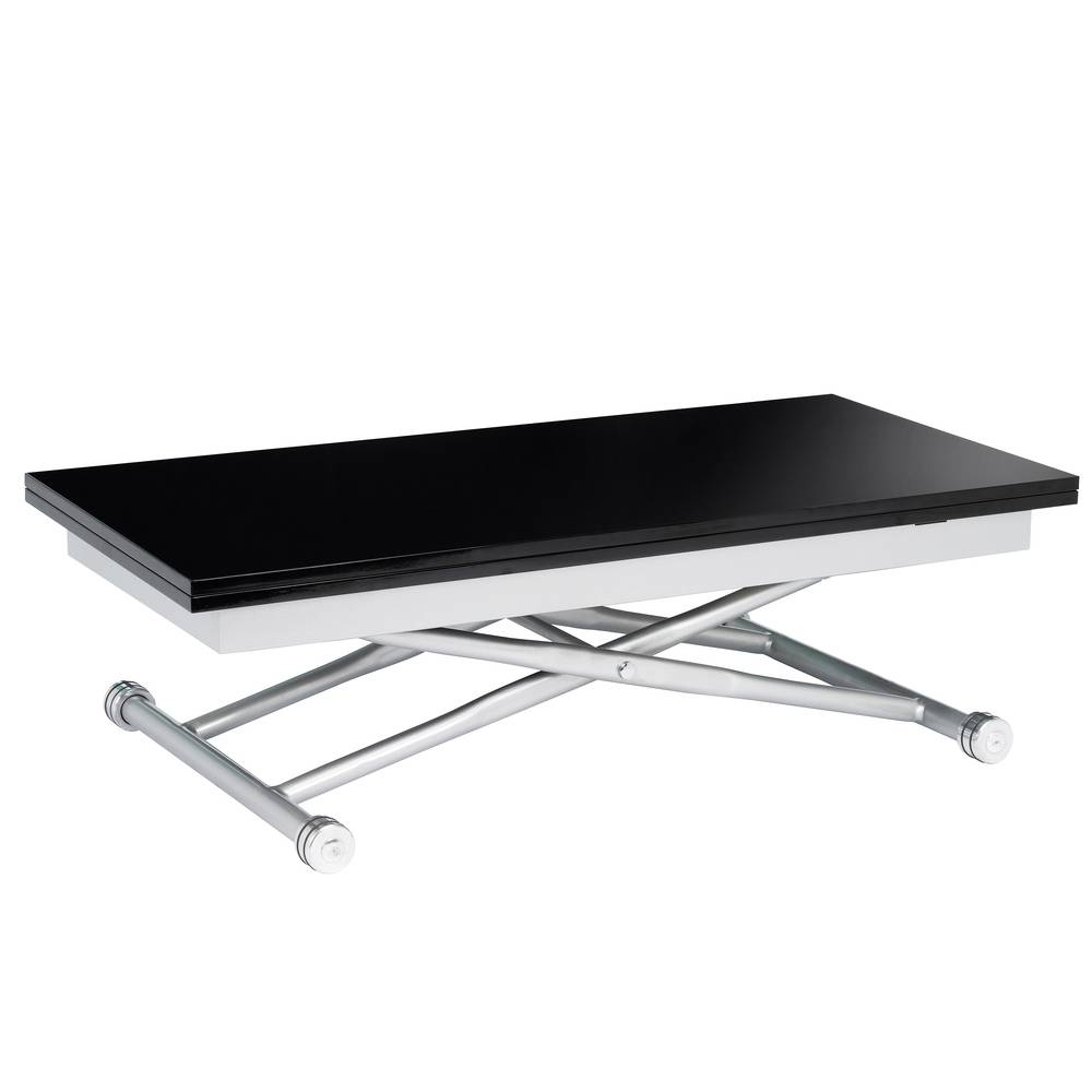 Rise Extending Coffee Table Black - Dwell inside Dining Coffee Tables (Image 12 of 15)
