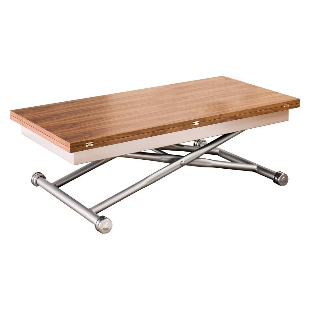 Rise Extending Coffee Table Walnut - Dwell with Dining Coffee Tables (Image 14 of 15)