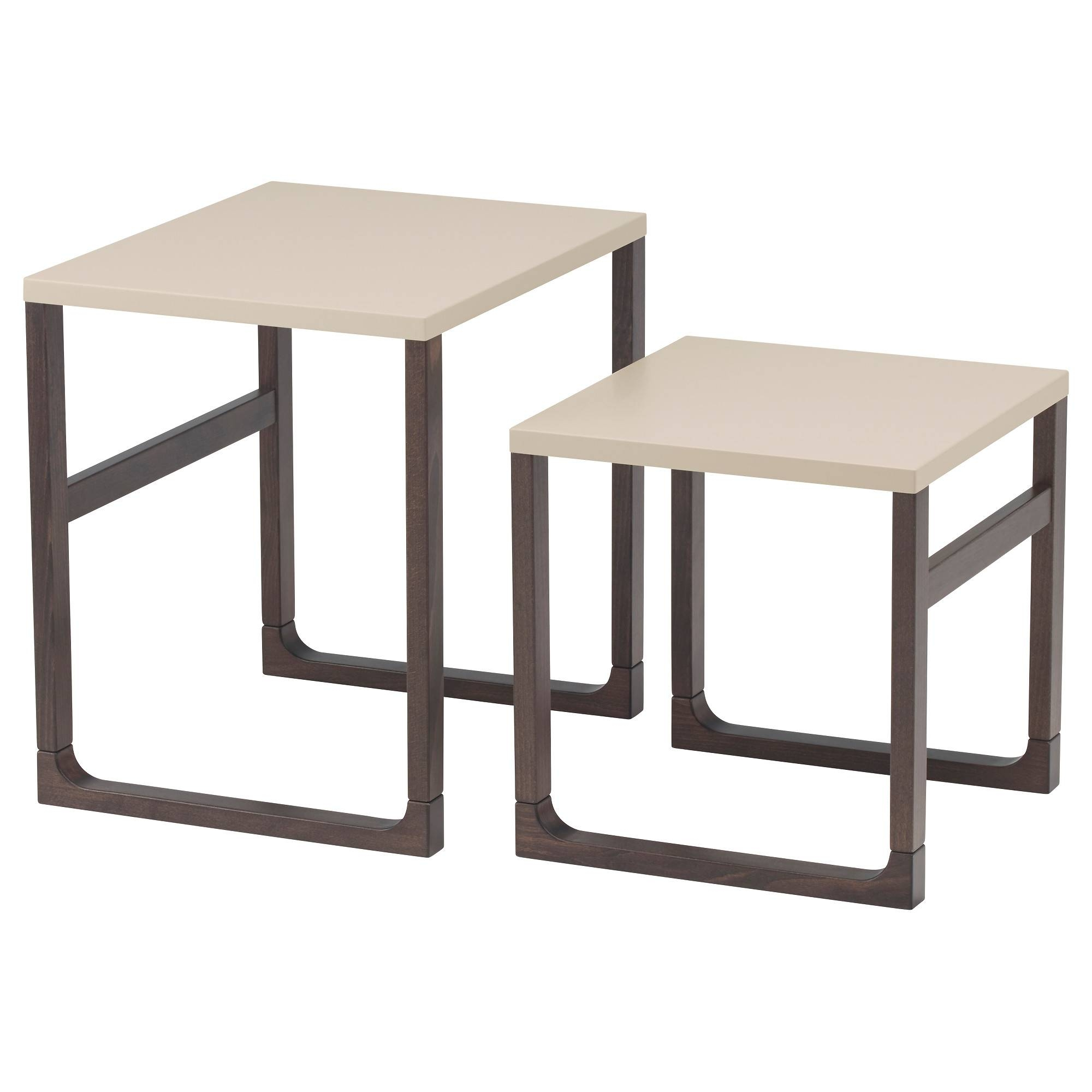 Rissna Nest Of Tables, Set Of 2 Beige - Ikea in Nest Coffee Tables (Image 21 of 30)