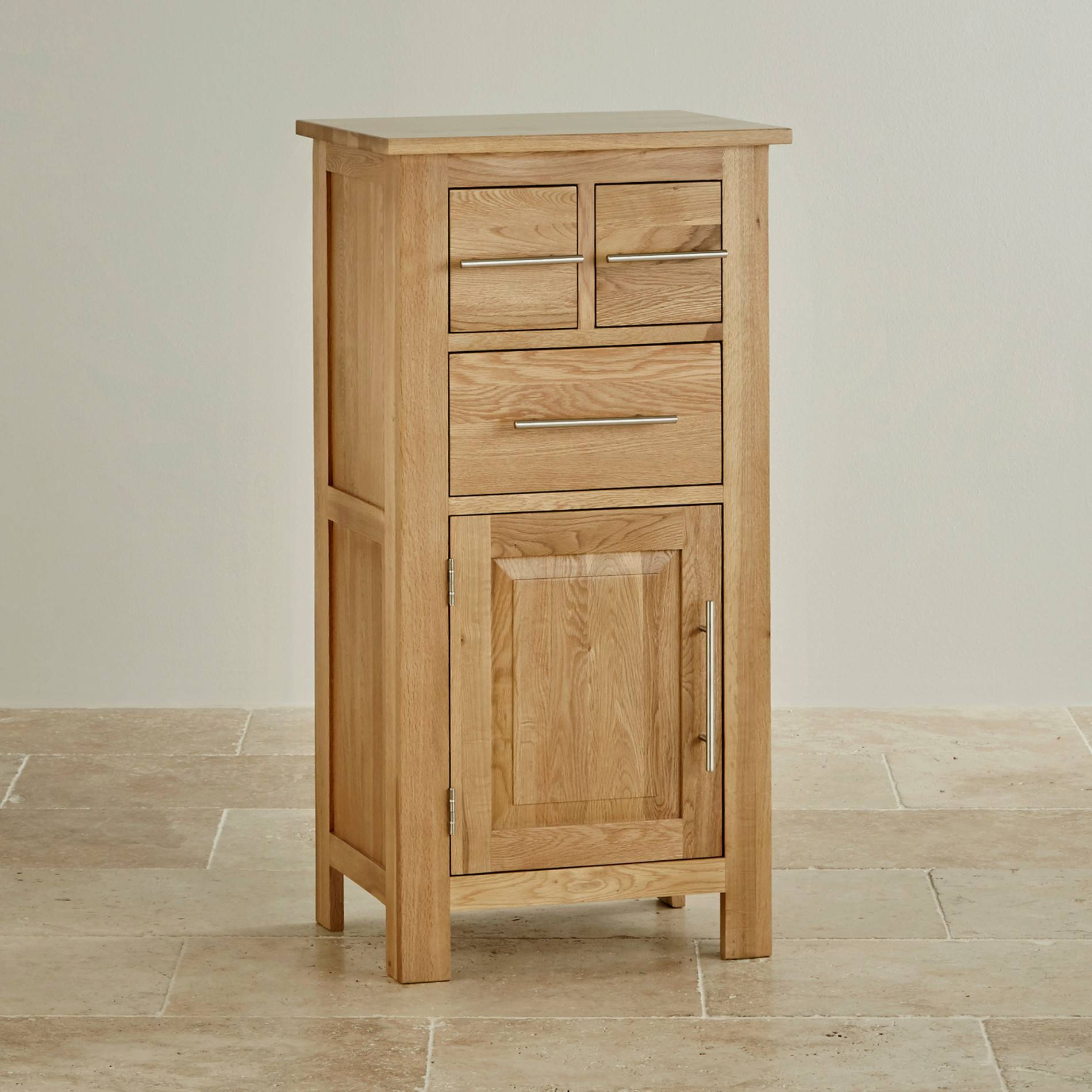 Rivermead Natural Solid Oak Storage Unitoak Furniture Land Intended For Single Oak Wardrobes With Drawers (View 11 of 15)