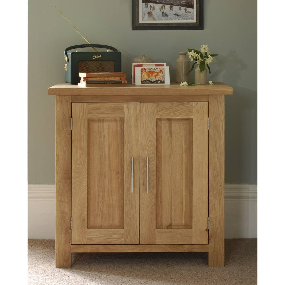 Rivermead Oak Cupboard Including Free Delivery (808.823) | Pine with Small Wooden Sideboards (Image 19 of 30)