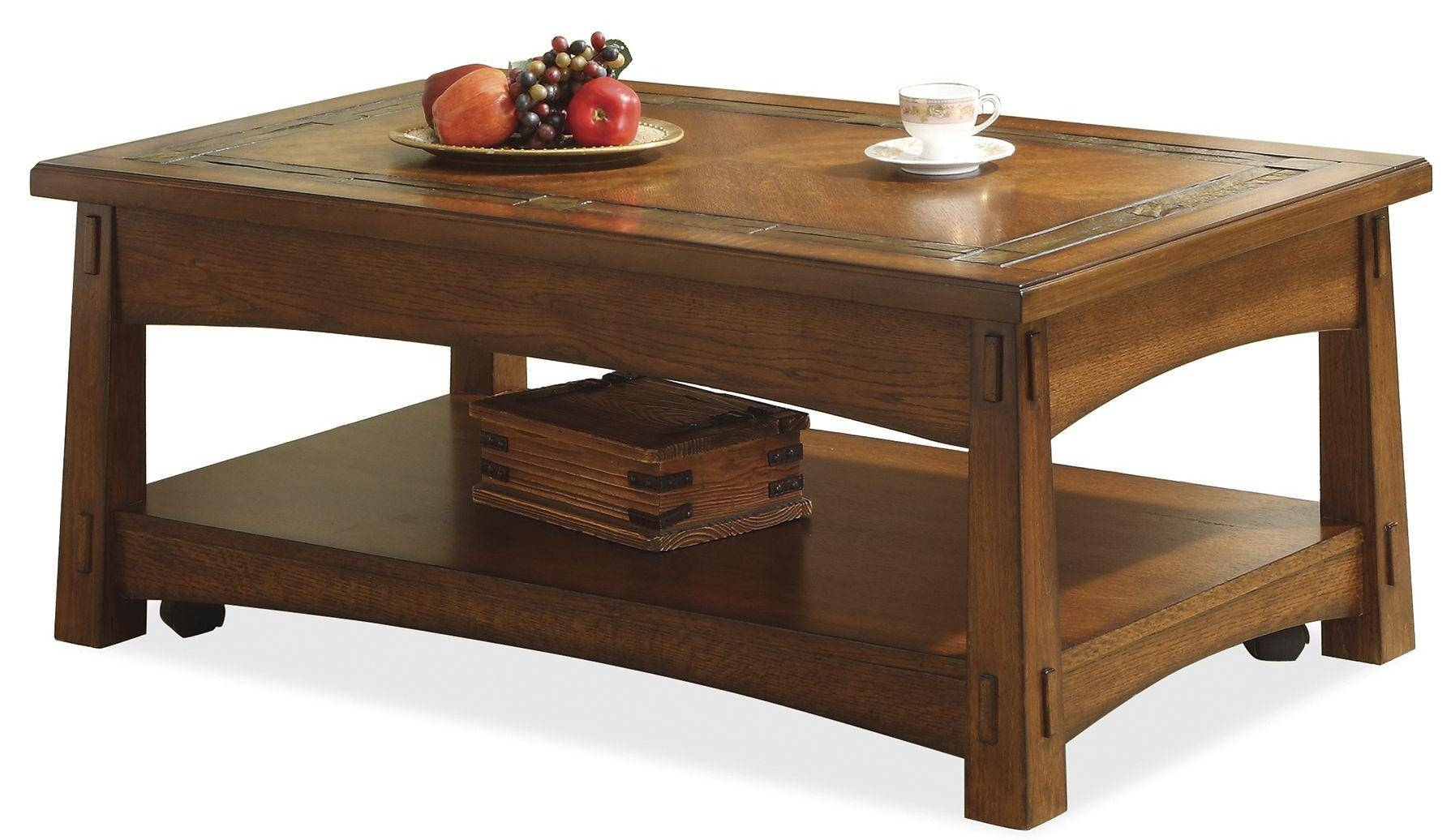 Riverside Furniture Craftsman Home Lift-Top Coffee Table With within Lift Coffee Tables (Image 20 of 30)