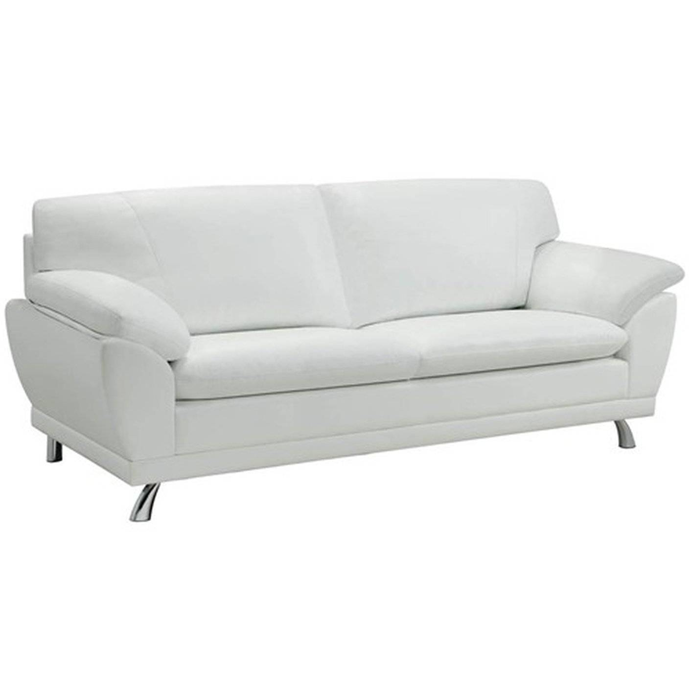 Robyn White Leather Sofa - Steal-A-Sofa Furniture Outlet Los throughout White Leather Sofas (Image 18 of 30)