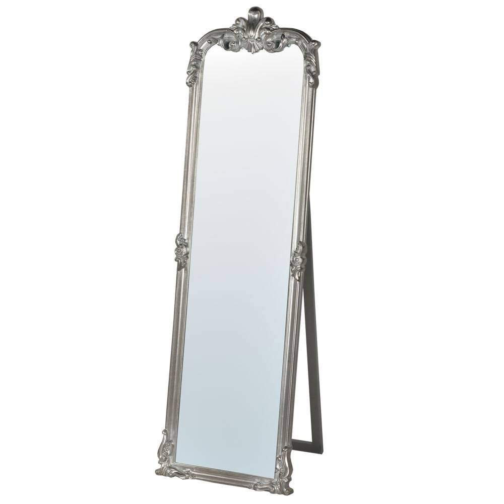 Rocaille Silver Free Standing Mirror – Mirrors, Furniture Regarding Silver Free Standing Mirrors (View 22 of 25)