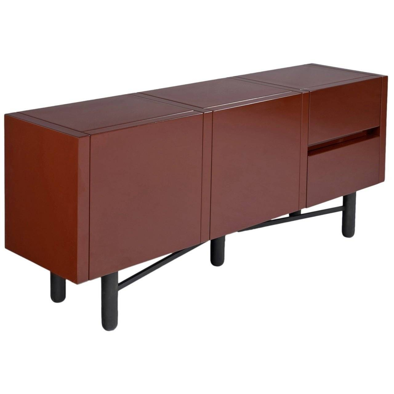 Roche Bobois Red Lacquered High Gloss Sideboard For Sale At 1Stdibs regarding Red High Gloss Sideboards (Image 23 of 30)