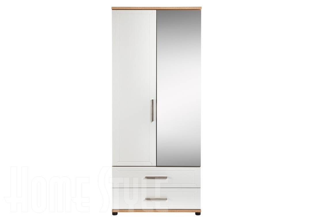 Rochelle 2 Door Wardrobe With 2 Drawers And 1 Mirror with Mirrored Wardrobes With Drawers (Image 10 of 15)
