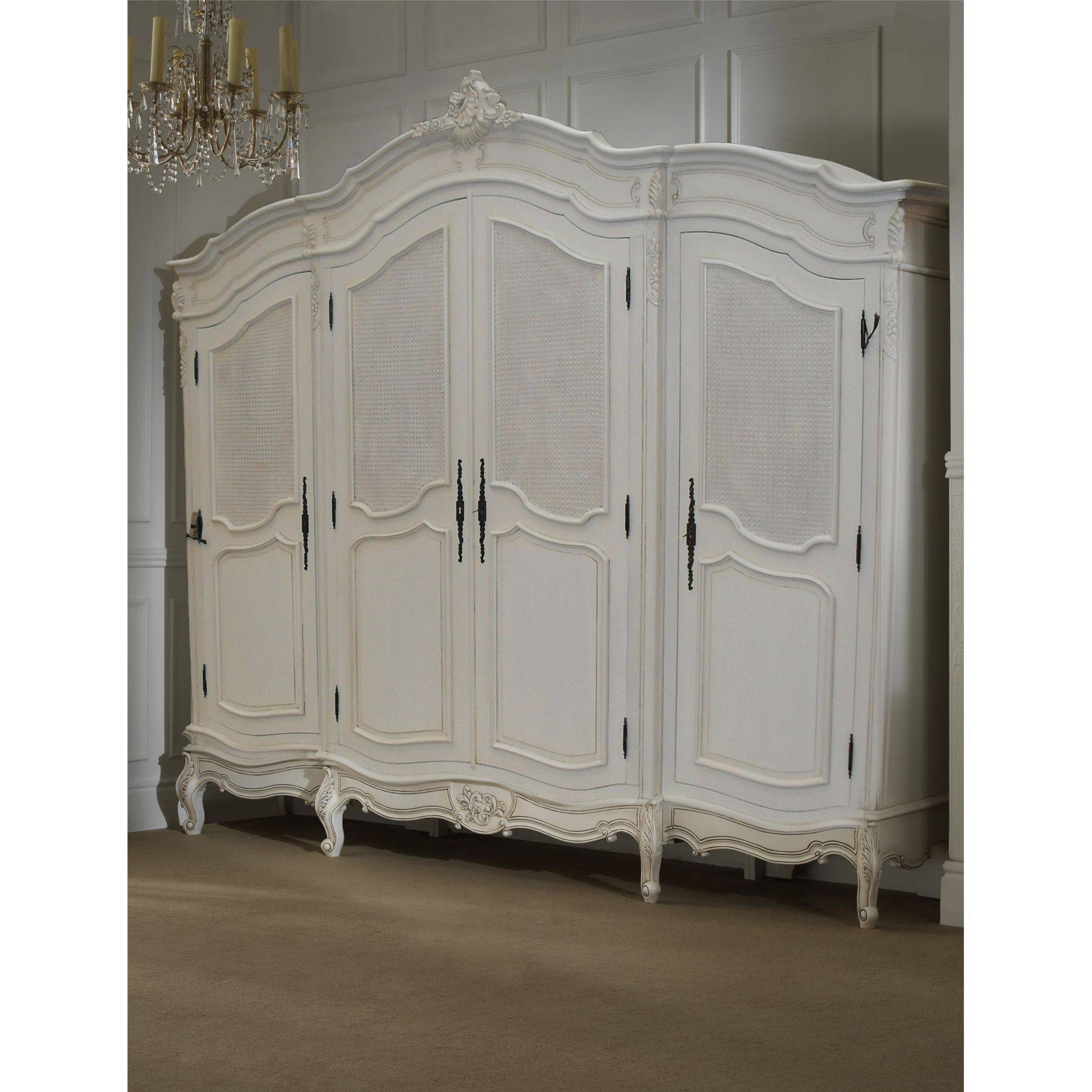 Rochelle Antique French Rattan Bed (Size: King) + La Rochelle 4 pertaining to Rattan Wardrobes (Image 11 of 15)