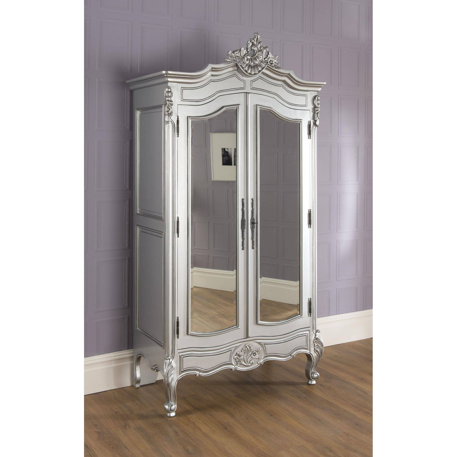 Rochelle Silver Bundle Deal #13 pertaining to Shabby Chic Wardrobes For Sale (Image 11 of 15)