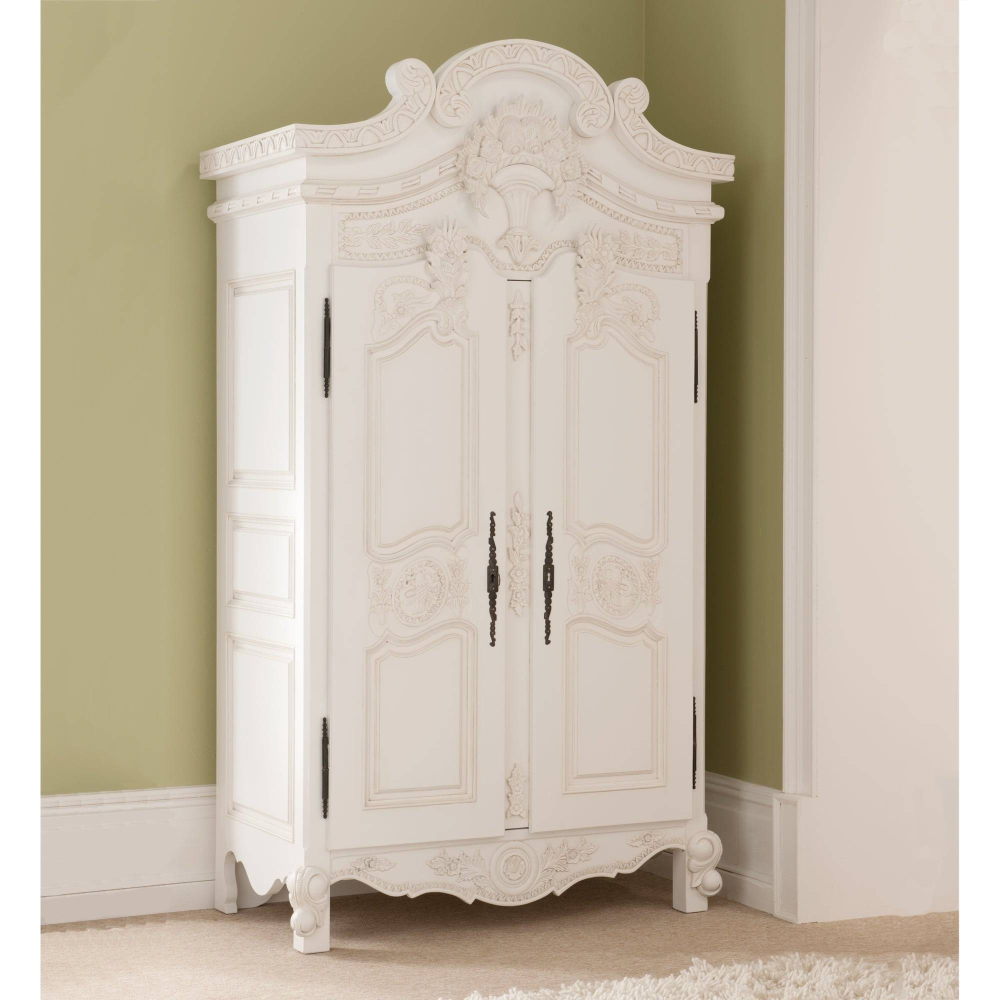 Rococo Antique French Wardrobe A Stunning Addition To Our Shabby regarding Antique White Wardrobes (Image 11 of 15)