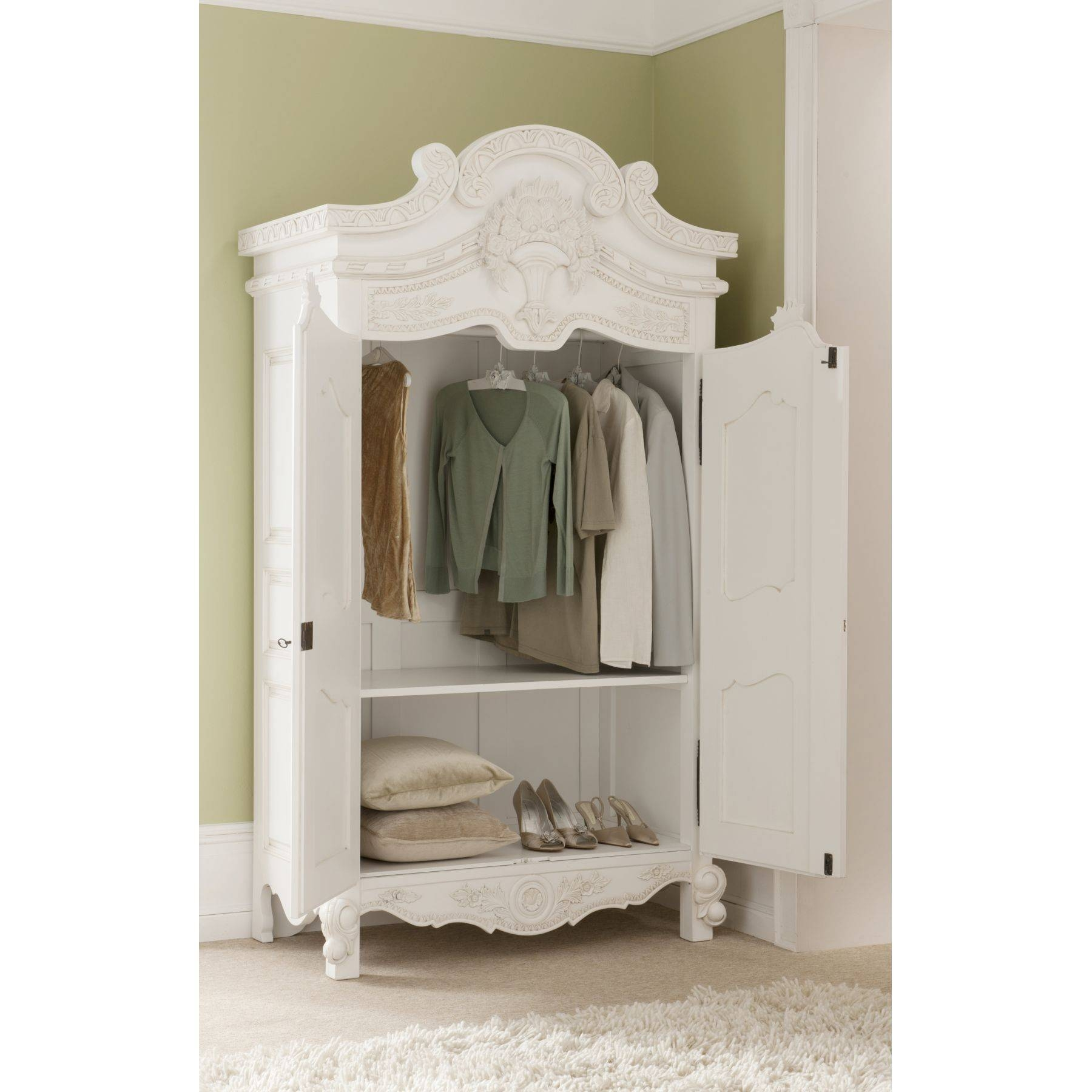 Rococo Antique French Wardrobe A Stunning Addition To Our Shabby within White Wardrobes French Style (Image 13 of 15)