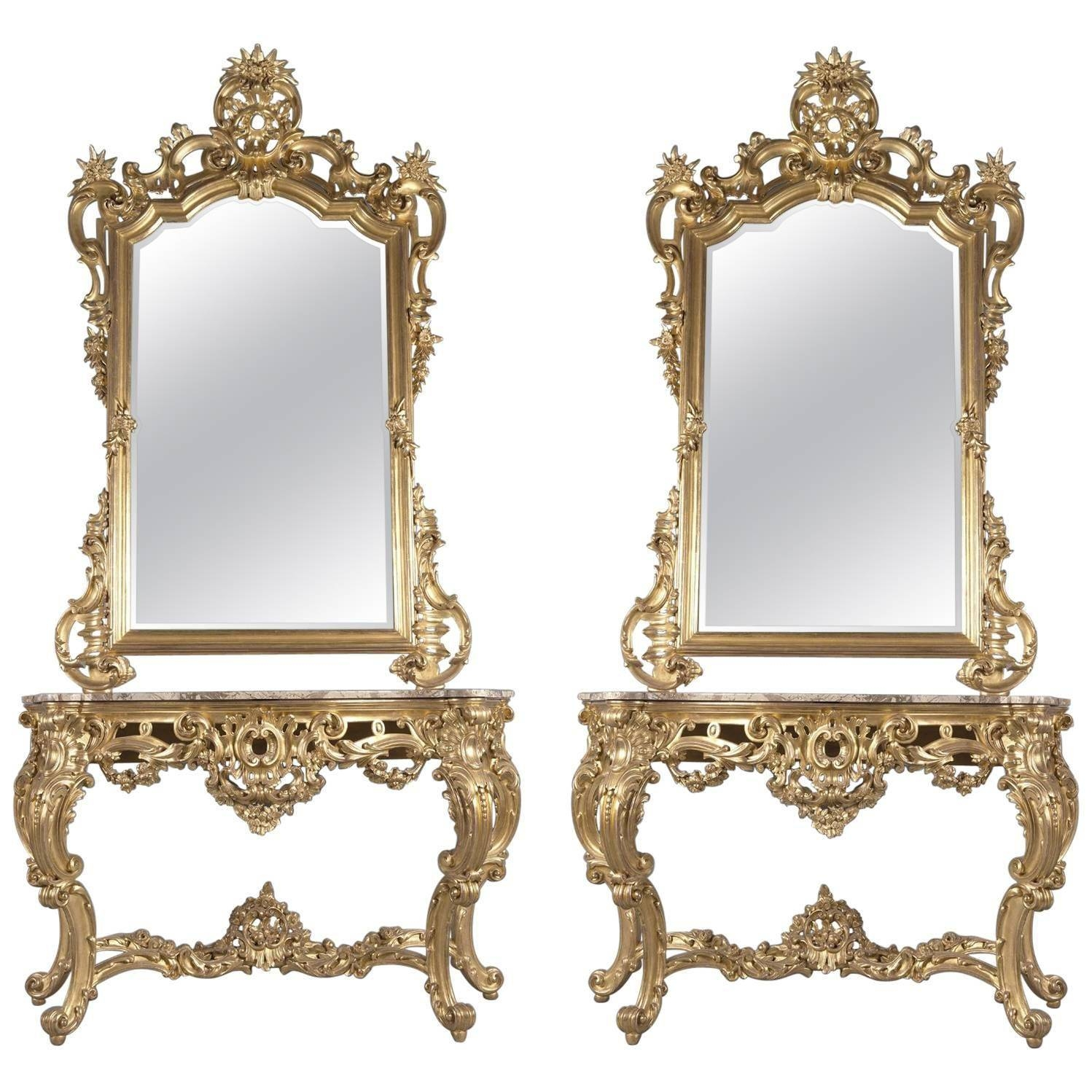 Rococo Mirrors - 41 For Sale At 1Stdibs with Rococo Mirrors (Image 22 of 25)