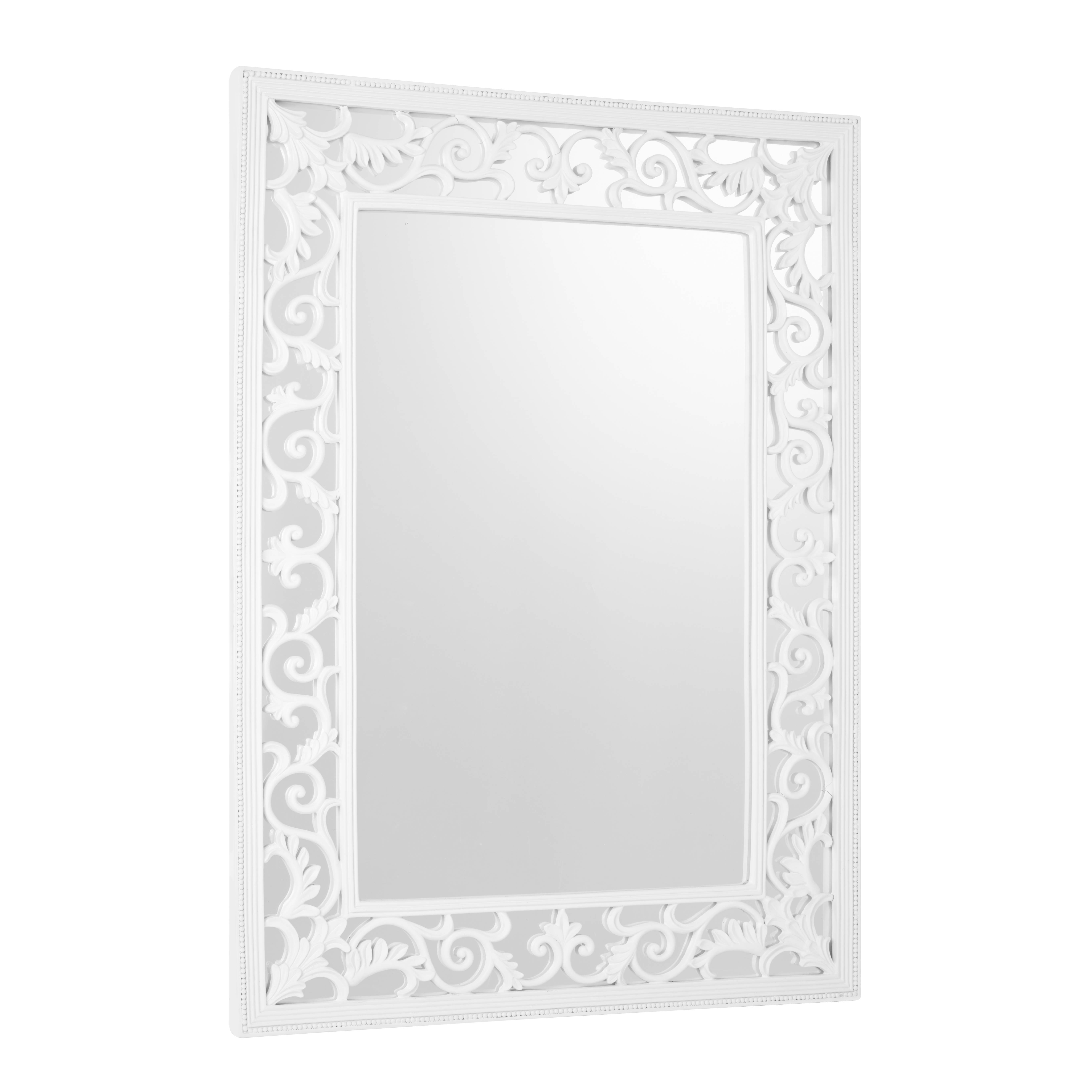 Rococo Rectangular Mirror White | Gay Times | £231.00 for White Rococo Mirrors (Image 21 of 25)