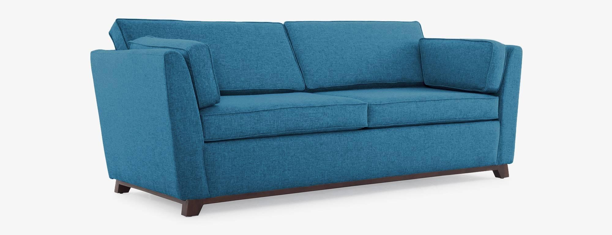 Roller Sleeper Sofa | Joybird in Aqua Sofa Beds (Image 26 of 30)