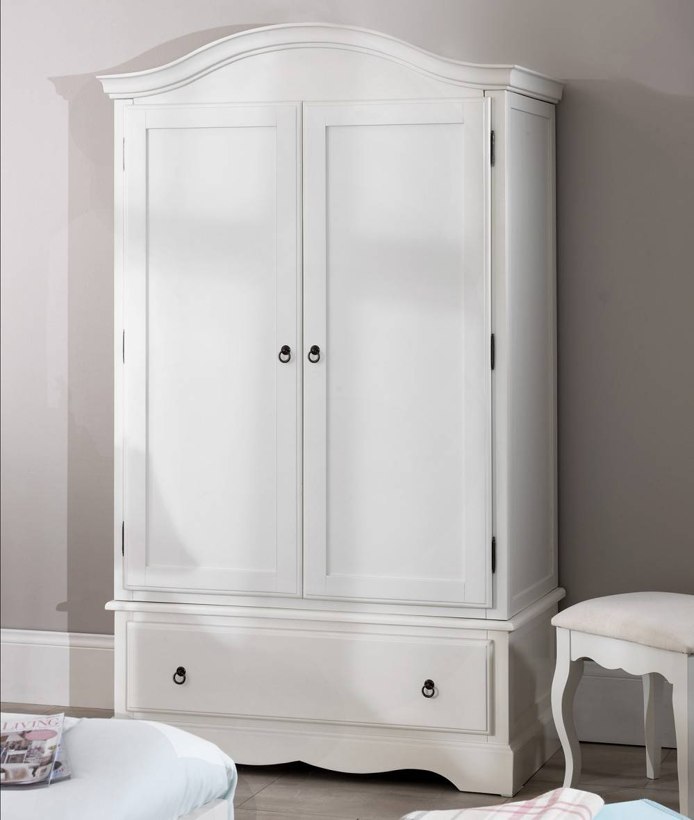Romance White Bedroom Furniture, Bedside Table, Chest Of Drawers with Antique White Wardrobes (Image 14 of 15)