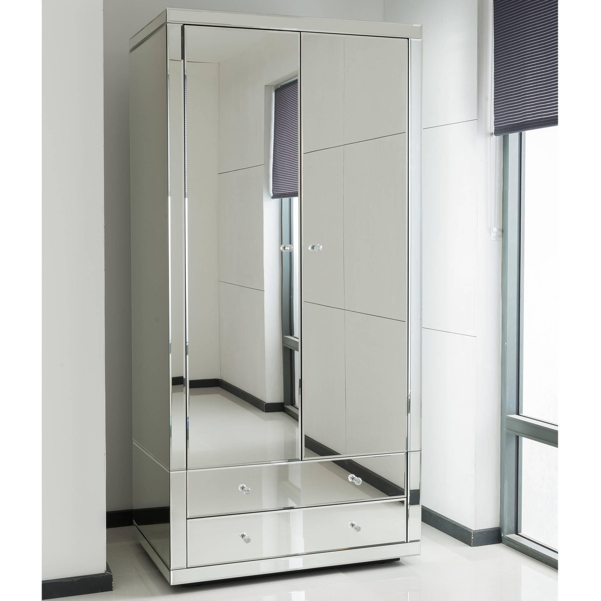 Romano Crystal Mirrored Wardrobe| Venetian Mirrored Furniture in Mirror Wardrobes (Image 10 of 15)