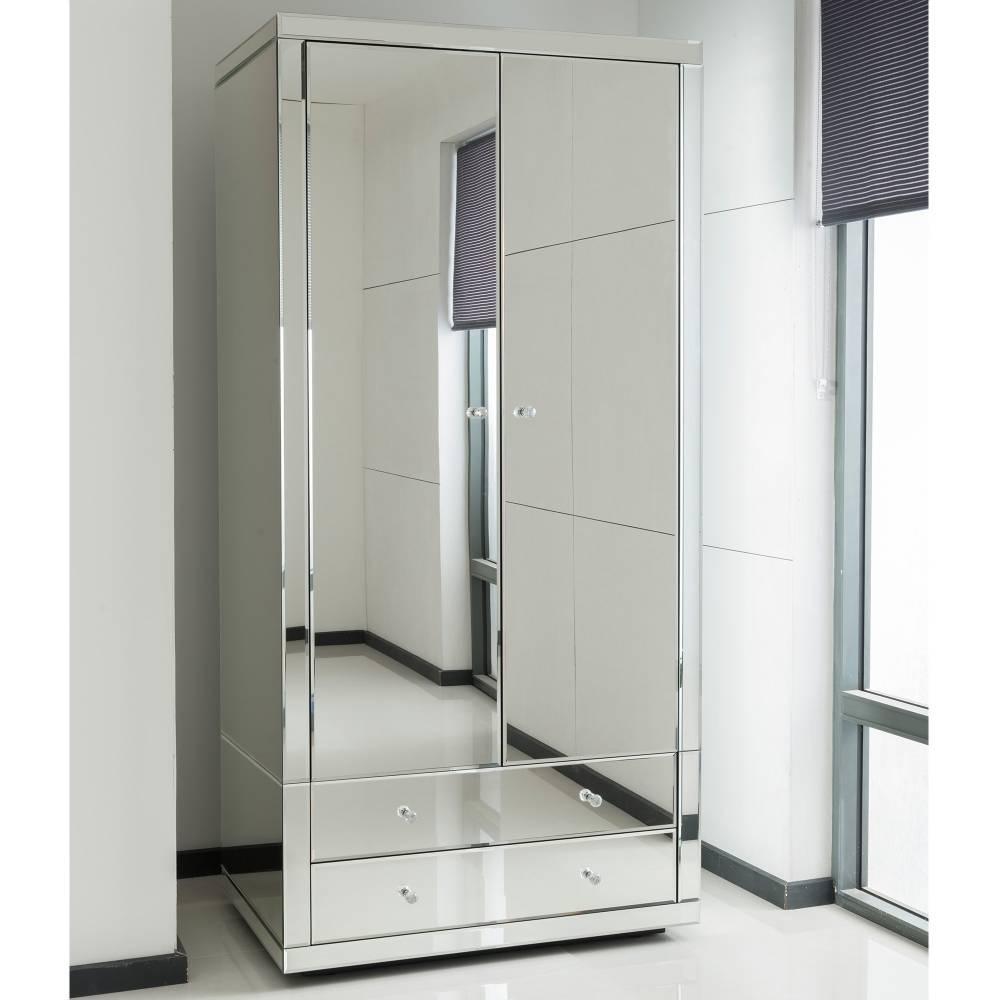 Romano Crystal Mirrored Wardrobe| Venetian Mirrored Furniture within Mirrored Wardrobes (Image 11 of 15)