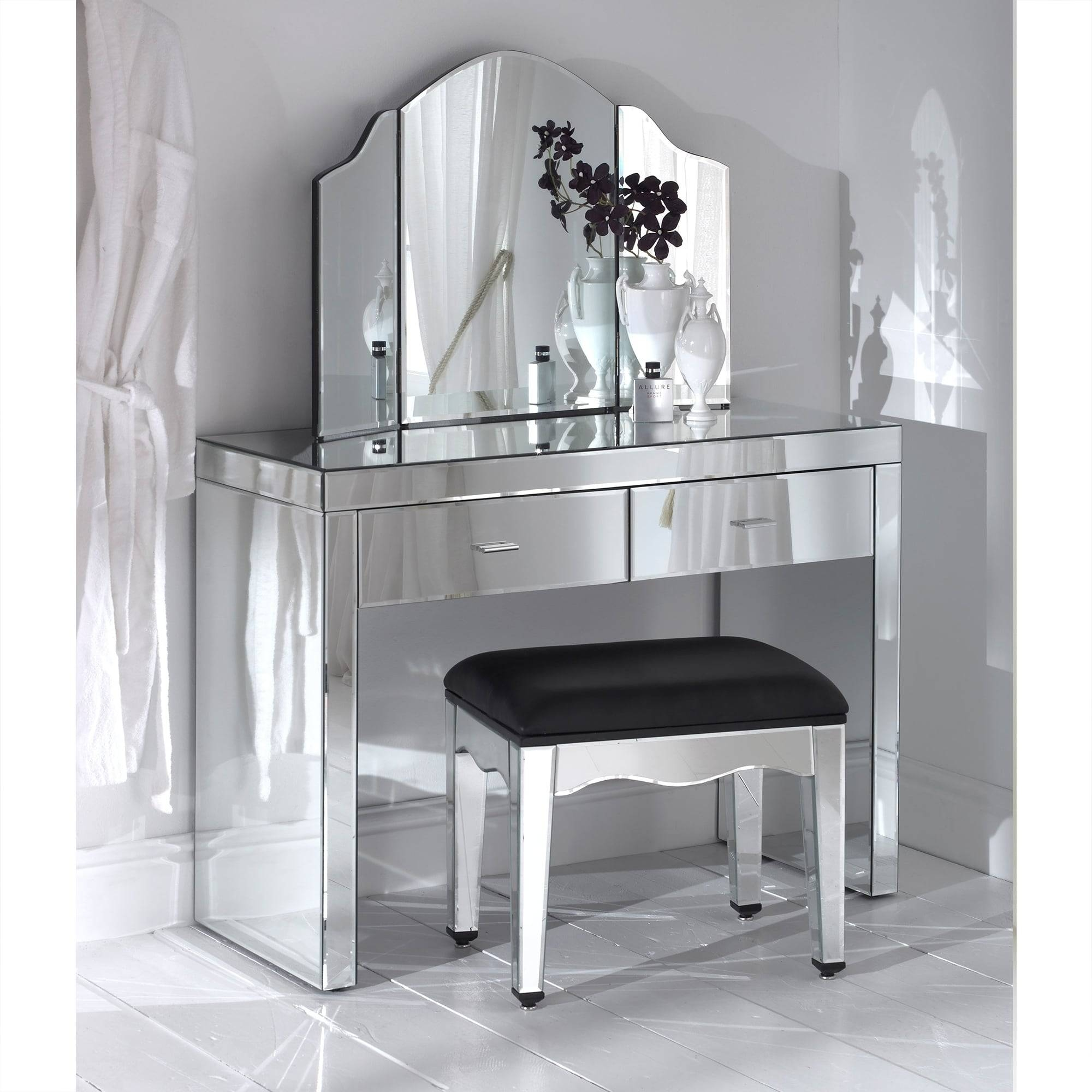 Romano Mirrored Collection | Venetian Glass Furniture Online for Romano Mirrored Wardrobes (Image 11 of 15)