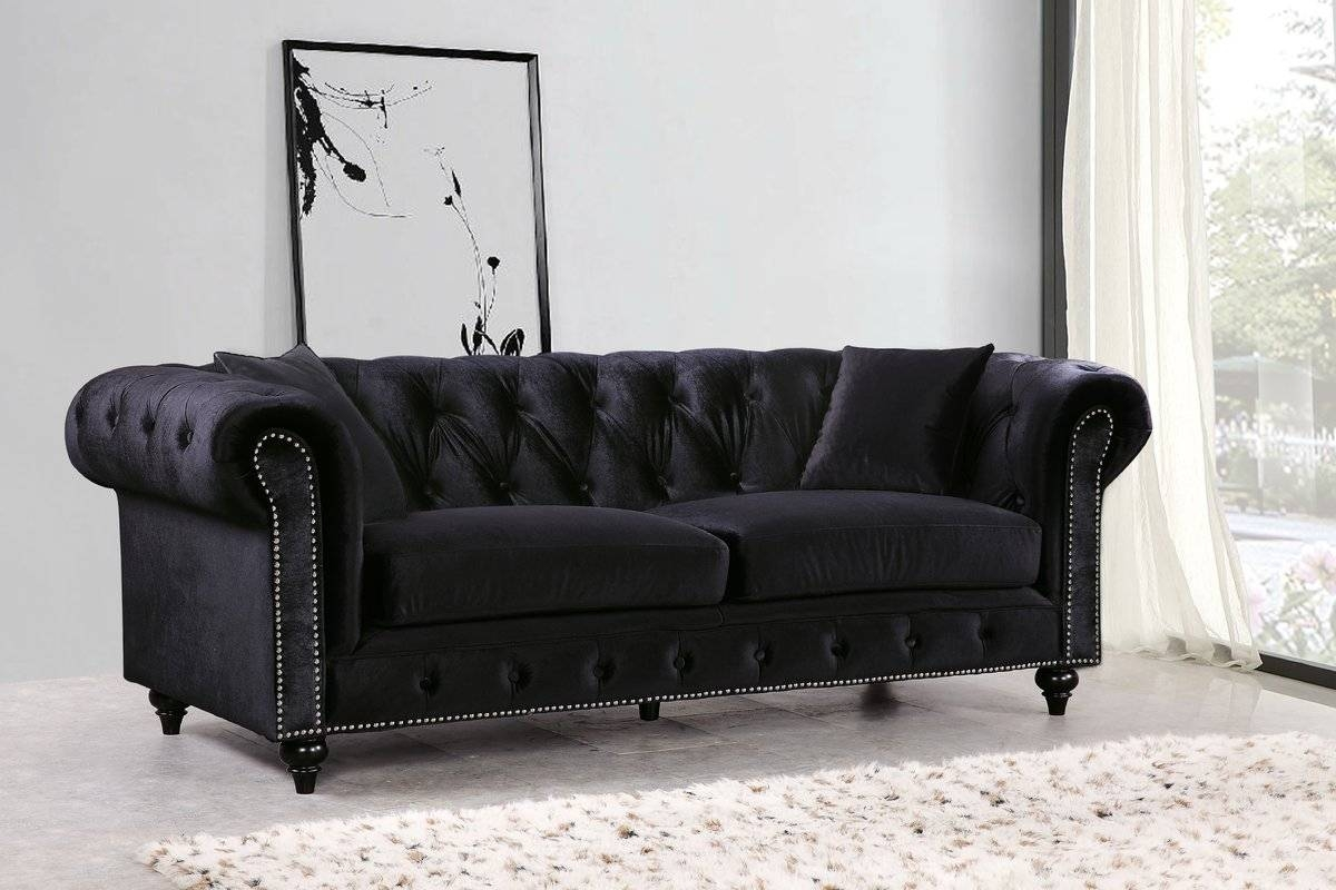 Rosdorf Park Garrett Chesterfield Sofa & Reviews | Wayfair with Chesterfield Black Sofas (Image 20 of 30)
