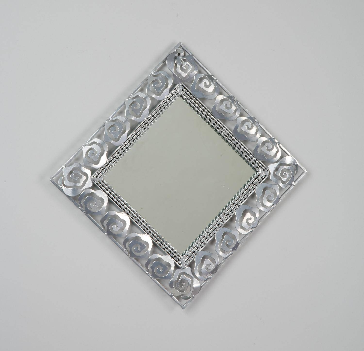 Rose Square Framed Wall Mirror - Tripar International, Inc. within Small Silver Mirrors (Image 20 of 25)